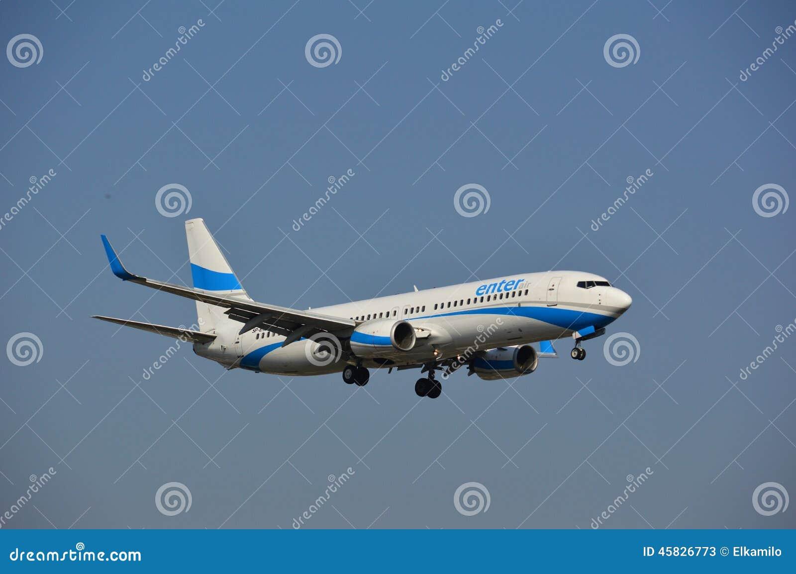 Skriv in luftflygbolagnivån