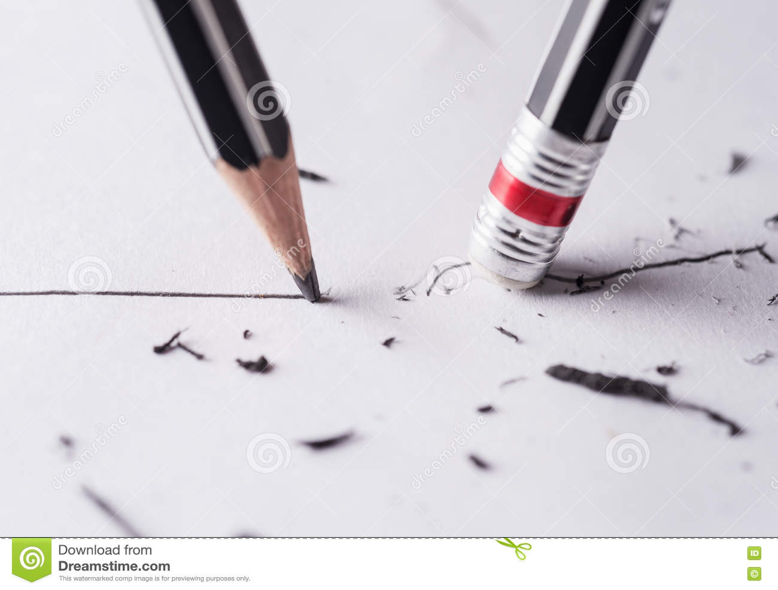 Skriv och radera