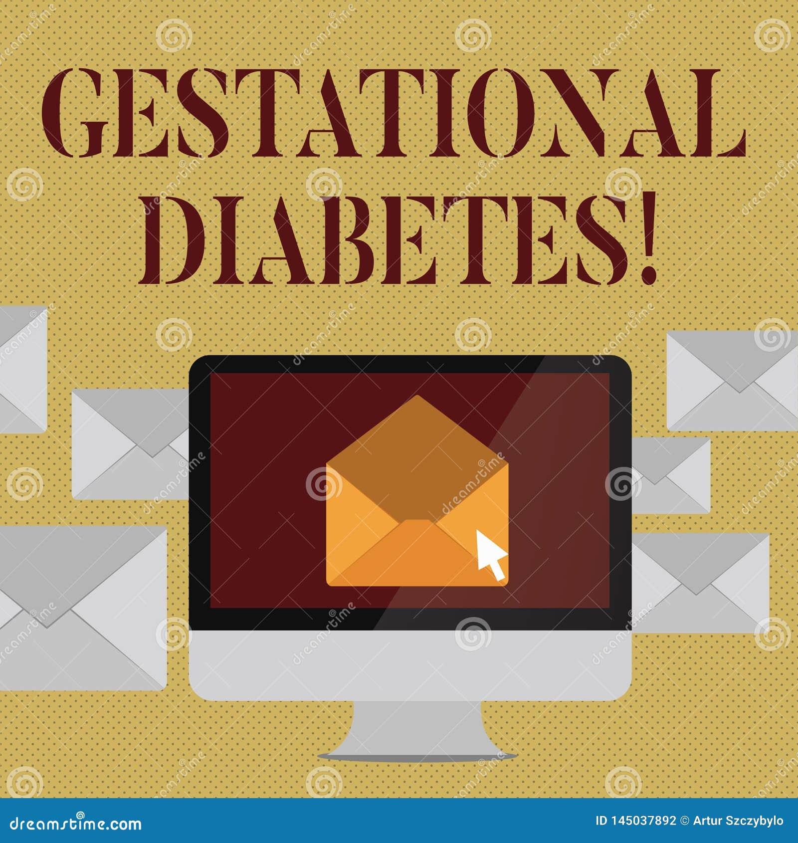 Skriva anmärkningen som visar Gestational sockersjuka Affärsfoto som ställer ut den högstämda nivån av glukos i blodet unde