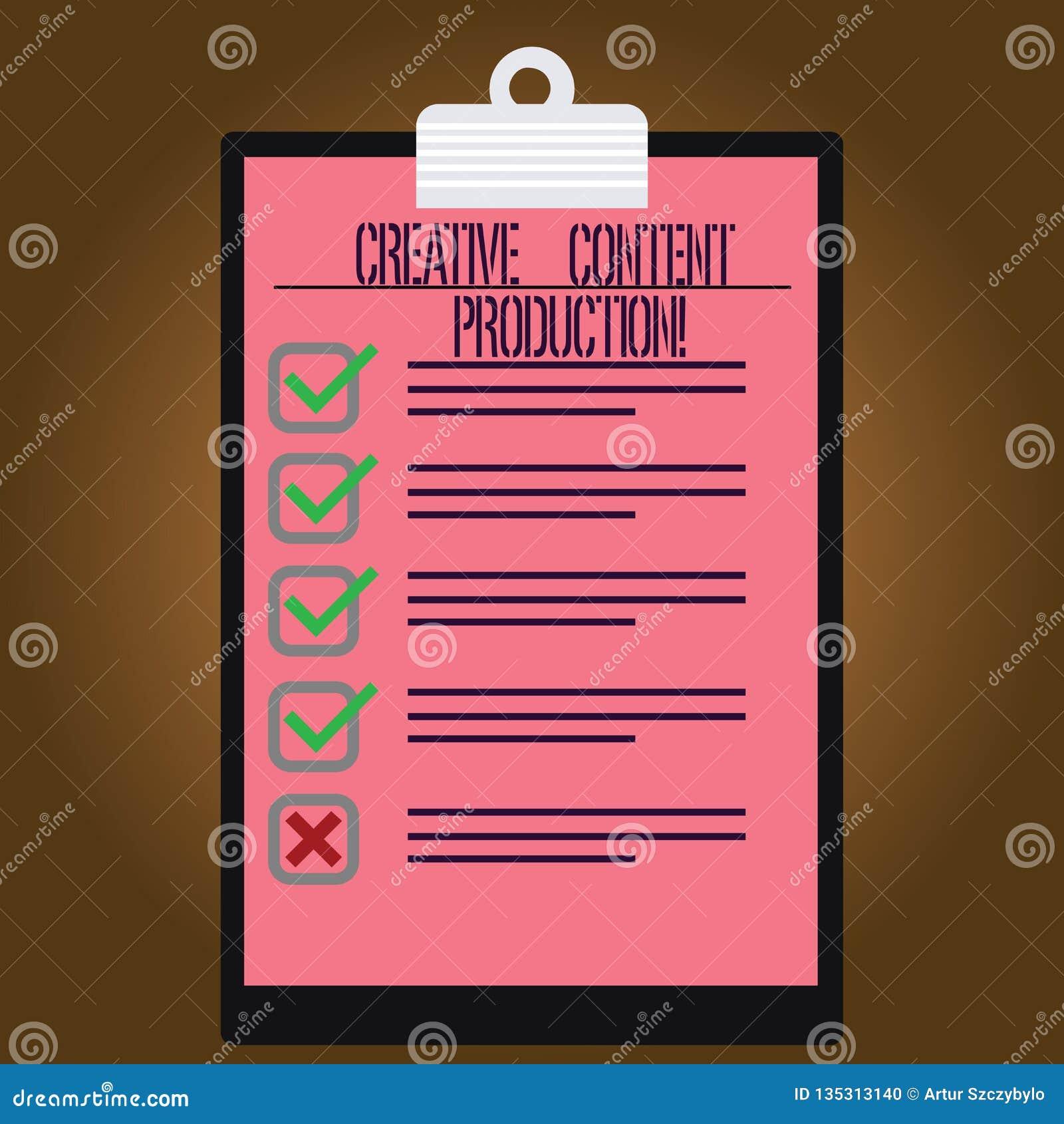 Skriva anmärkningen som visar idérik nöjd produktion Affärsfoto som ställer ut framkallning och att skapa som är visuellt eller s