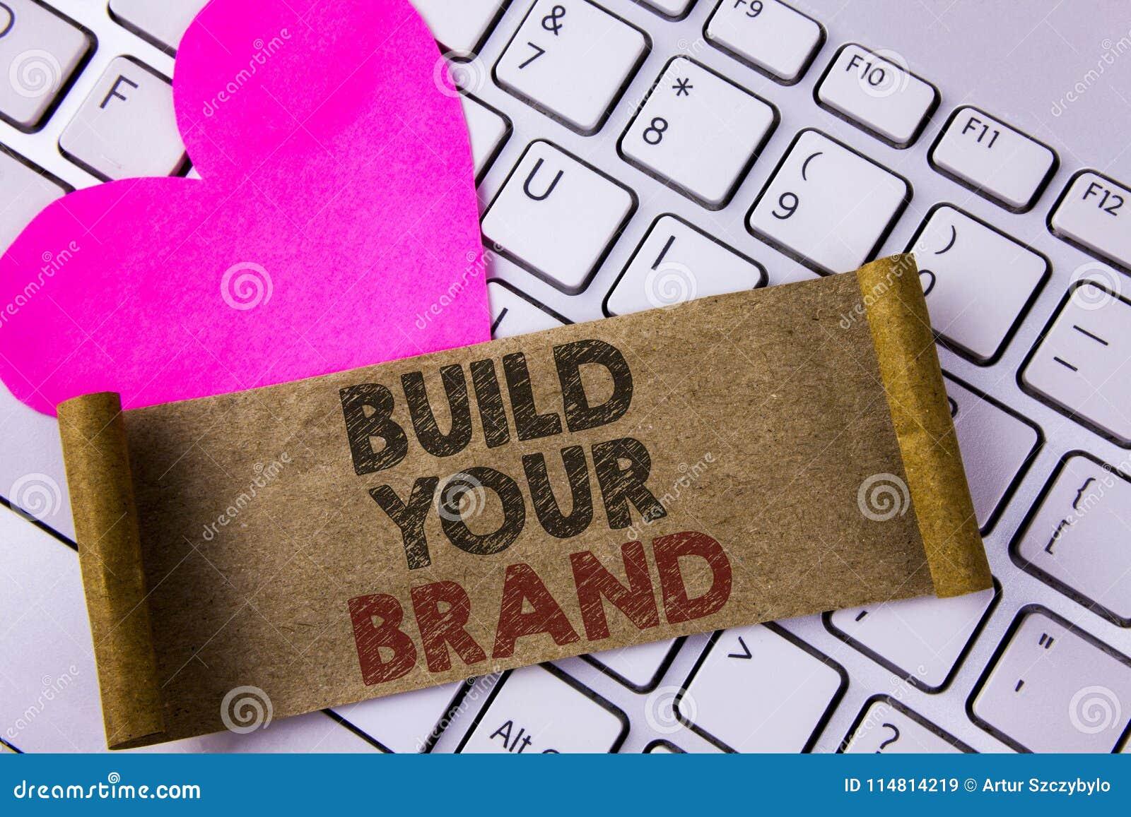 Skriva anmärkningsvisning bygg ditt märke Att ställa ut för affärsfoto skapar din egen logosloganmodell som annonserar e-marknads