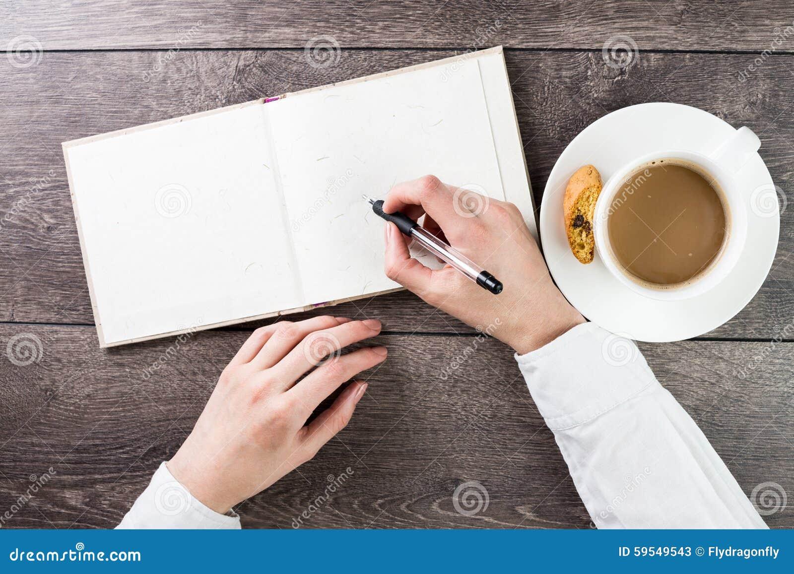 Skriva på tom (tom) spridningmodell för bok (anmärkning, dagbok)