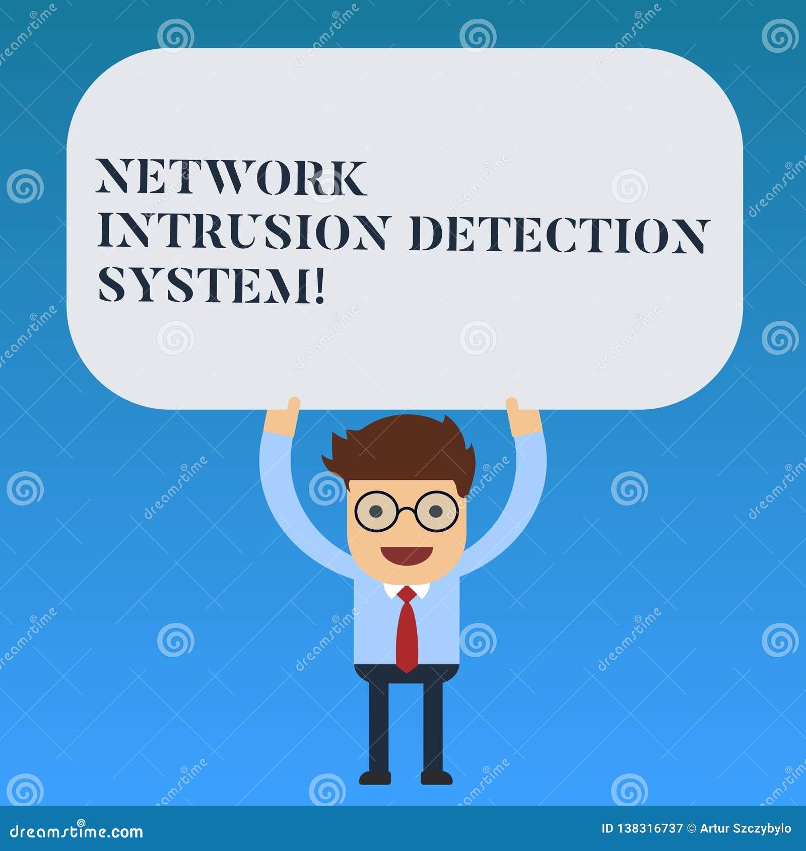 Skriva systemet för upptäckt för inhopp för anmärkningsvisningnätverk Affärsfoto som ställer ut system för säkerhetssäkerhetsmult