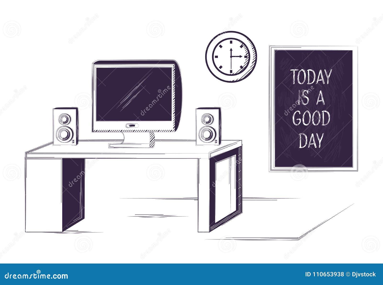 Skrivbord- och kontorstillförseldesign