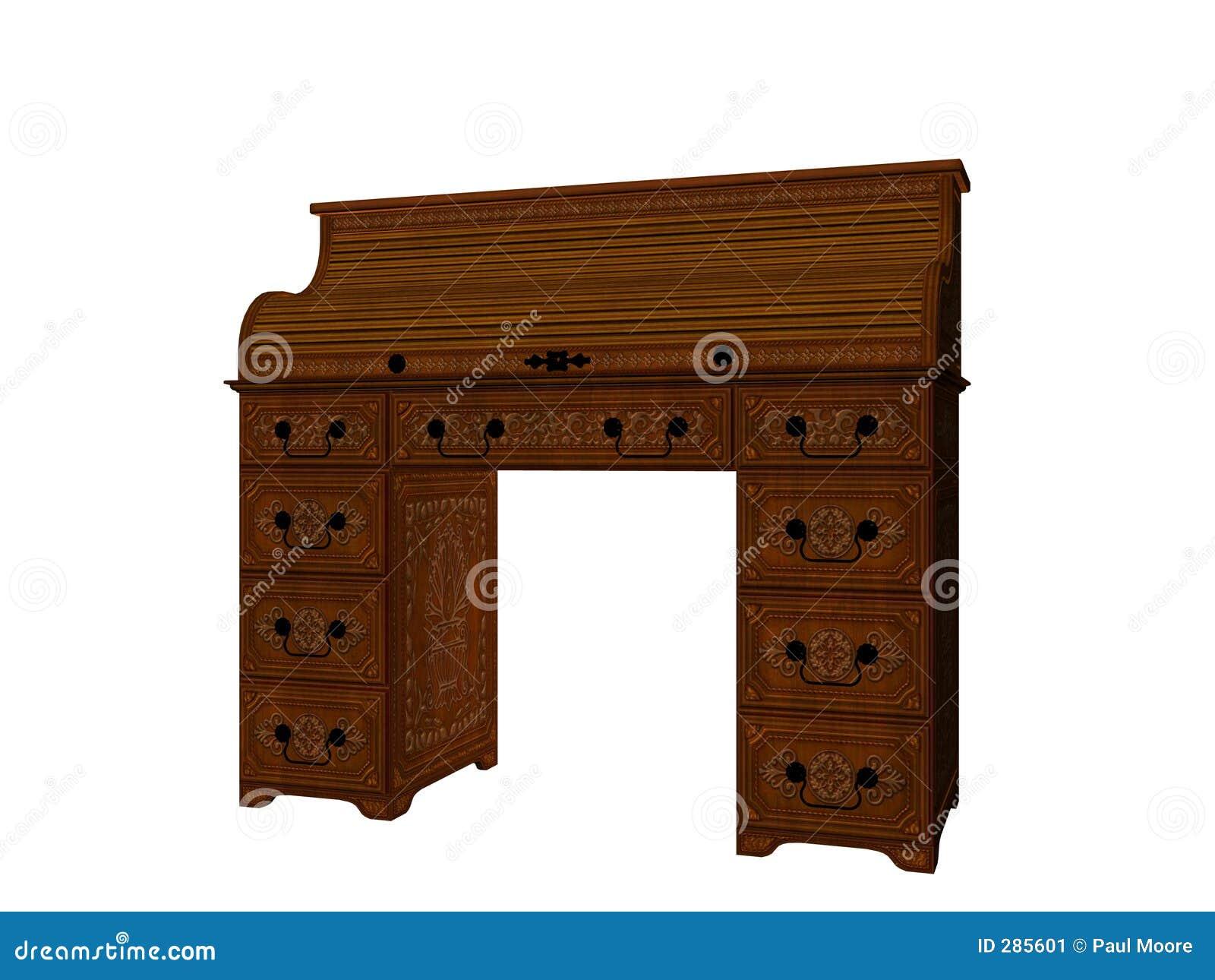Skrivbordrullöverkant