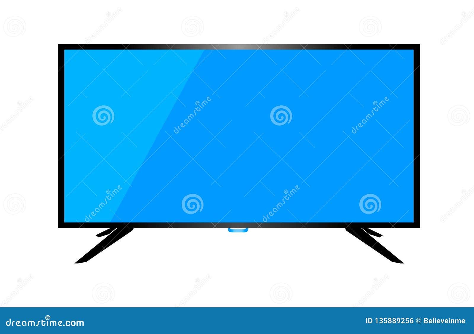Skrivbords- dator för TV eller för bildskärm på en vit bakgrund