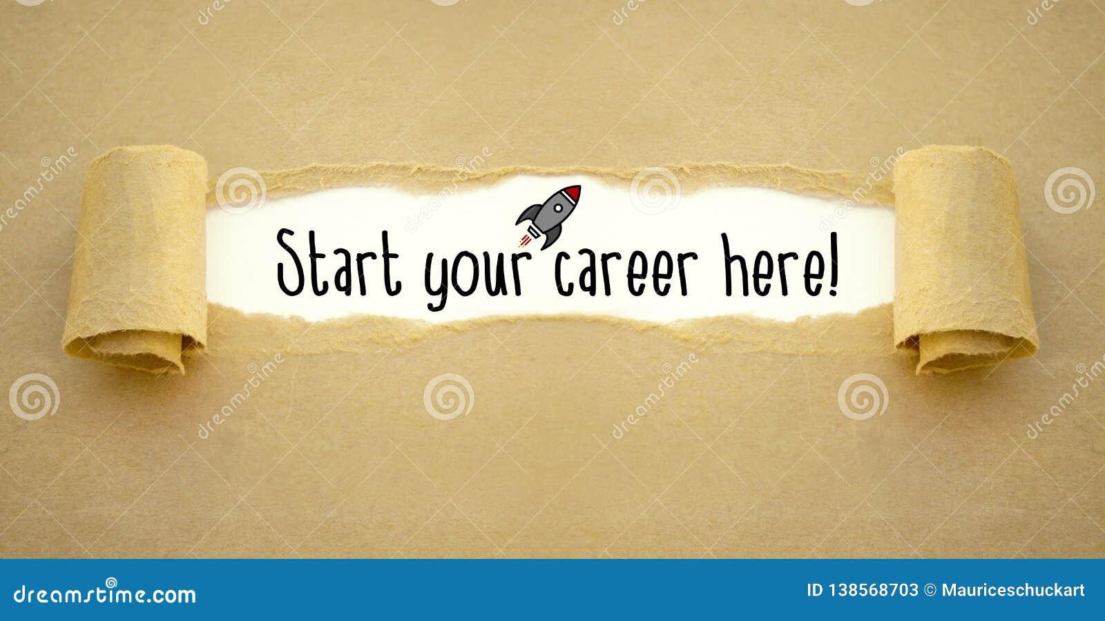 Skrivbordsarbete med raket och att starta din karriär här