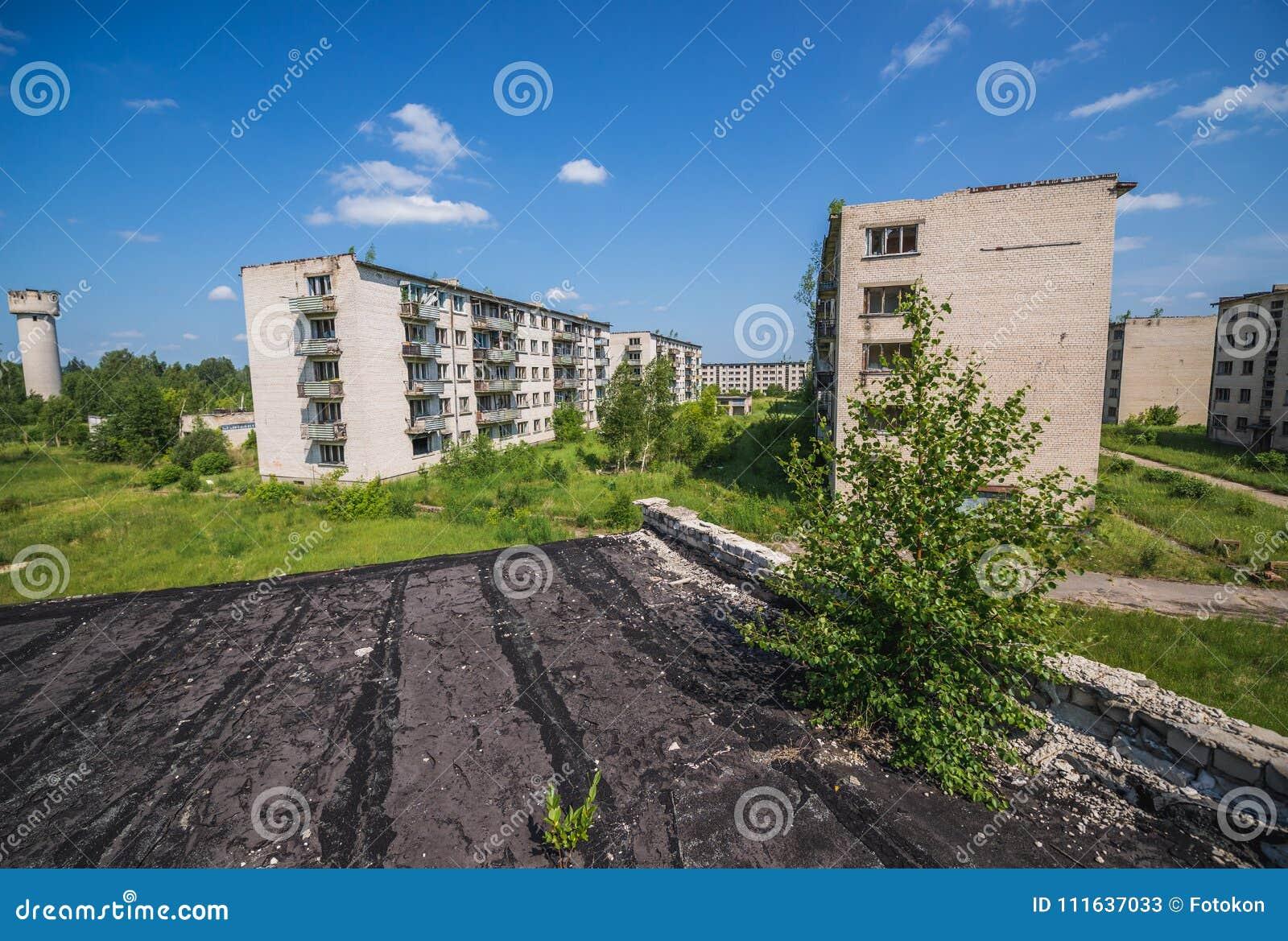 Skrunda in Letland