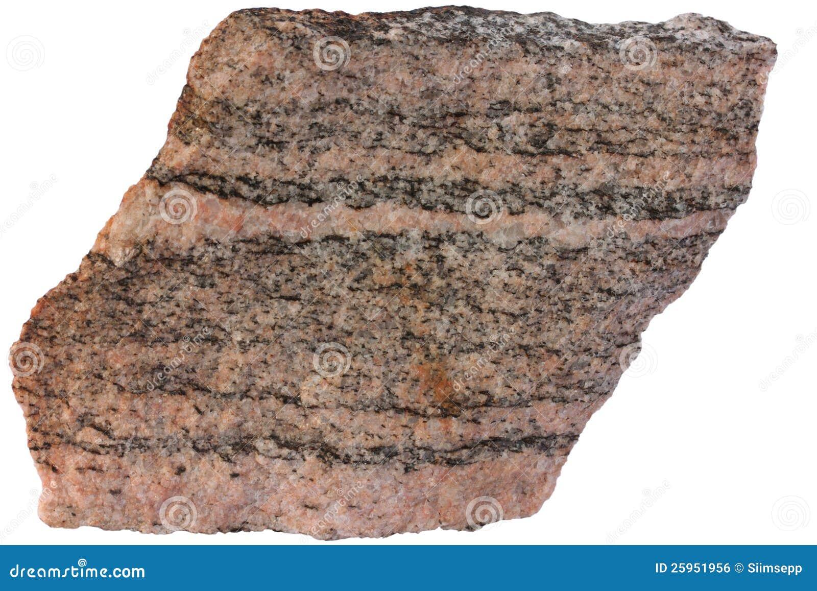 Skrzyknący metamorficznej skały gnejs od Karelia