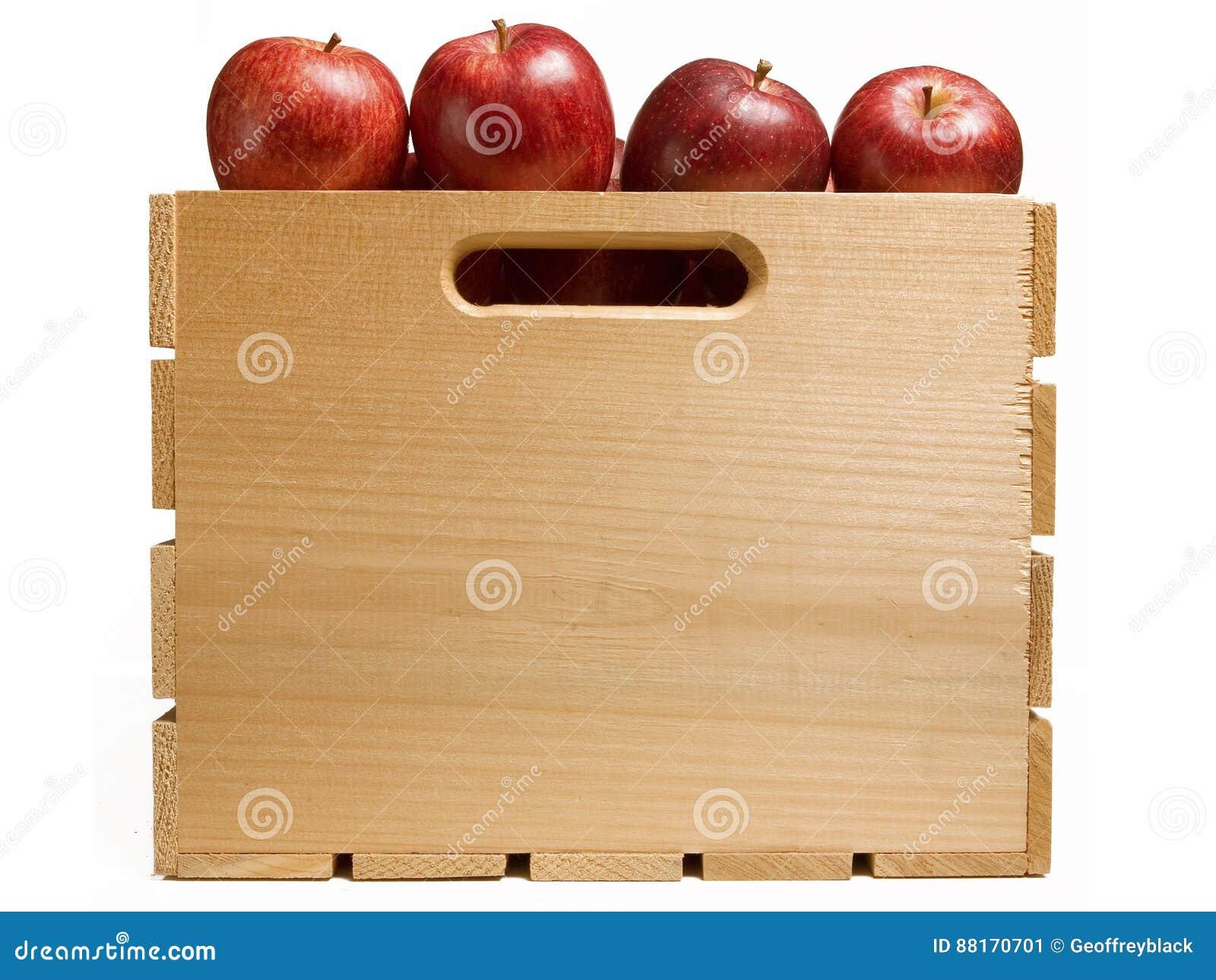 Skrzynka Czerwoni jabłka