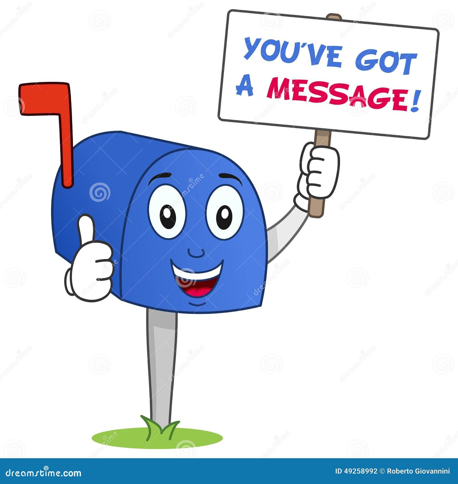 Skrzynka pocztowa charakter Ty ve Dostać wiadomość