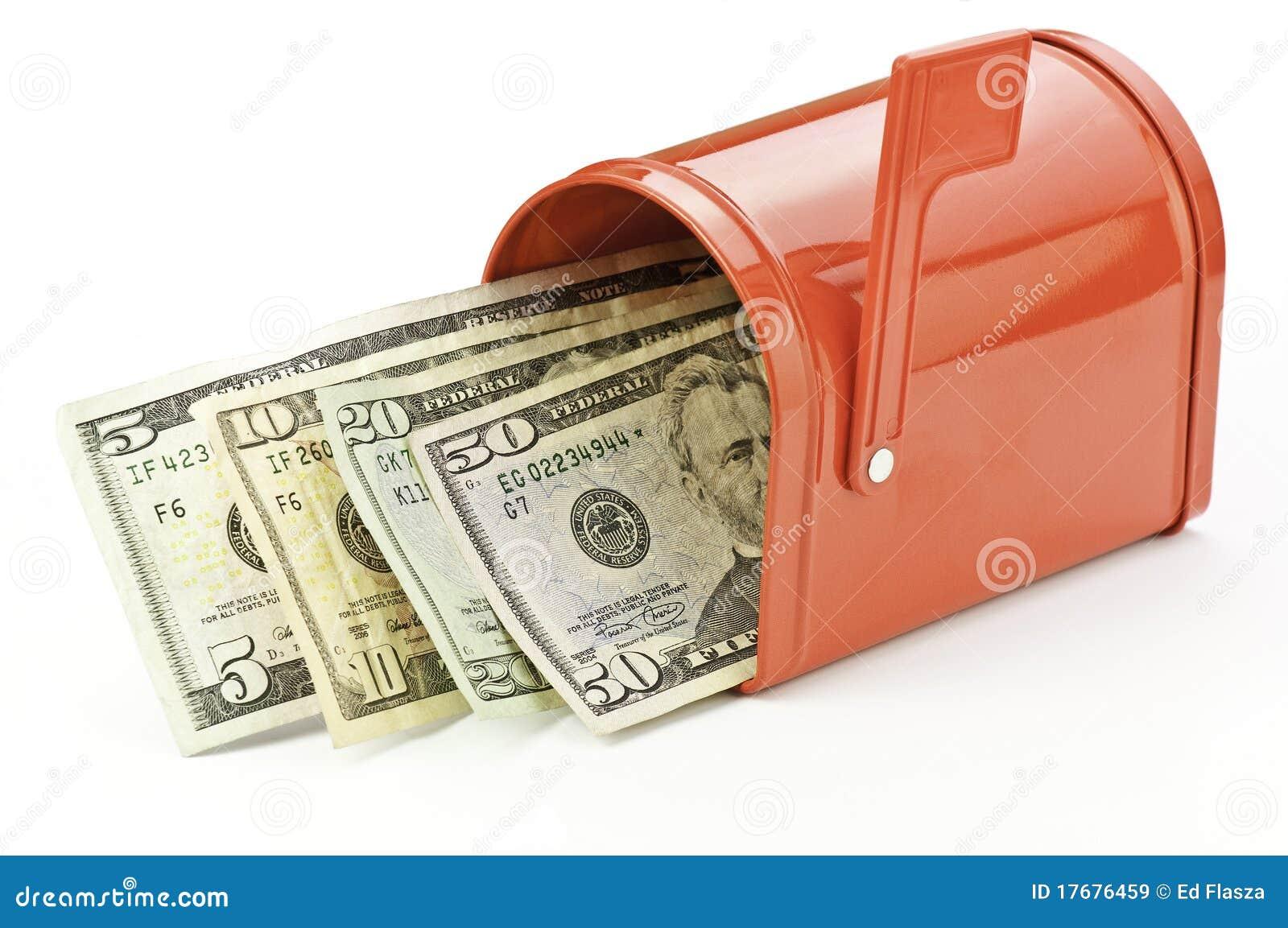 Skrzynka pocztowa pieniądze