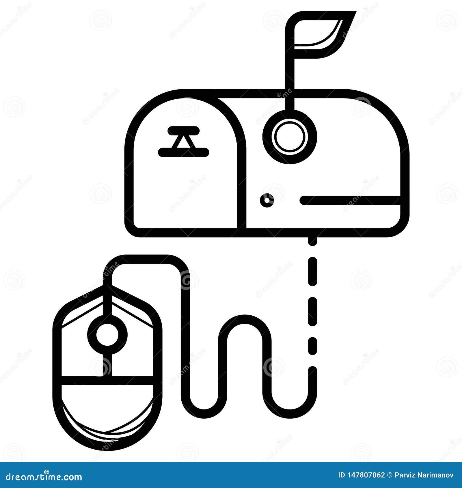Skrzynki pocztowa ikony wektor