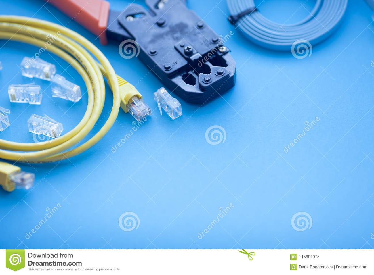 SKS And Engineering Concept Set Of Connectors, Ethernet And
