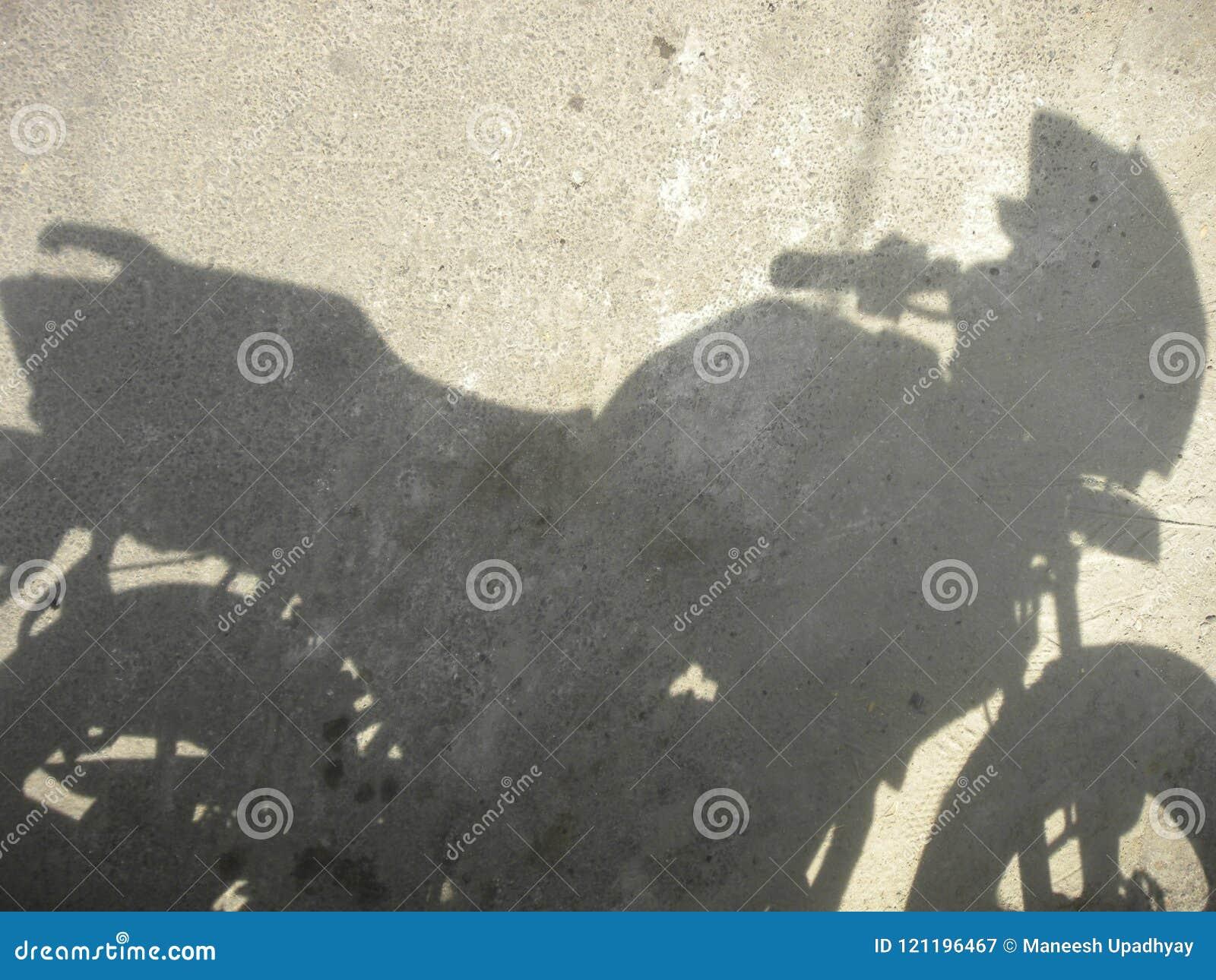 Skugga av mopeden
