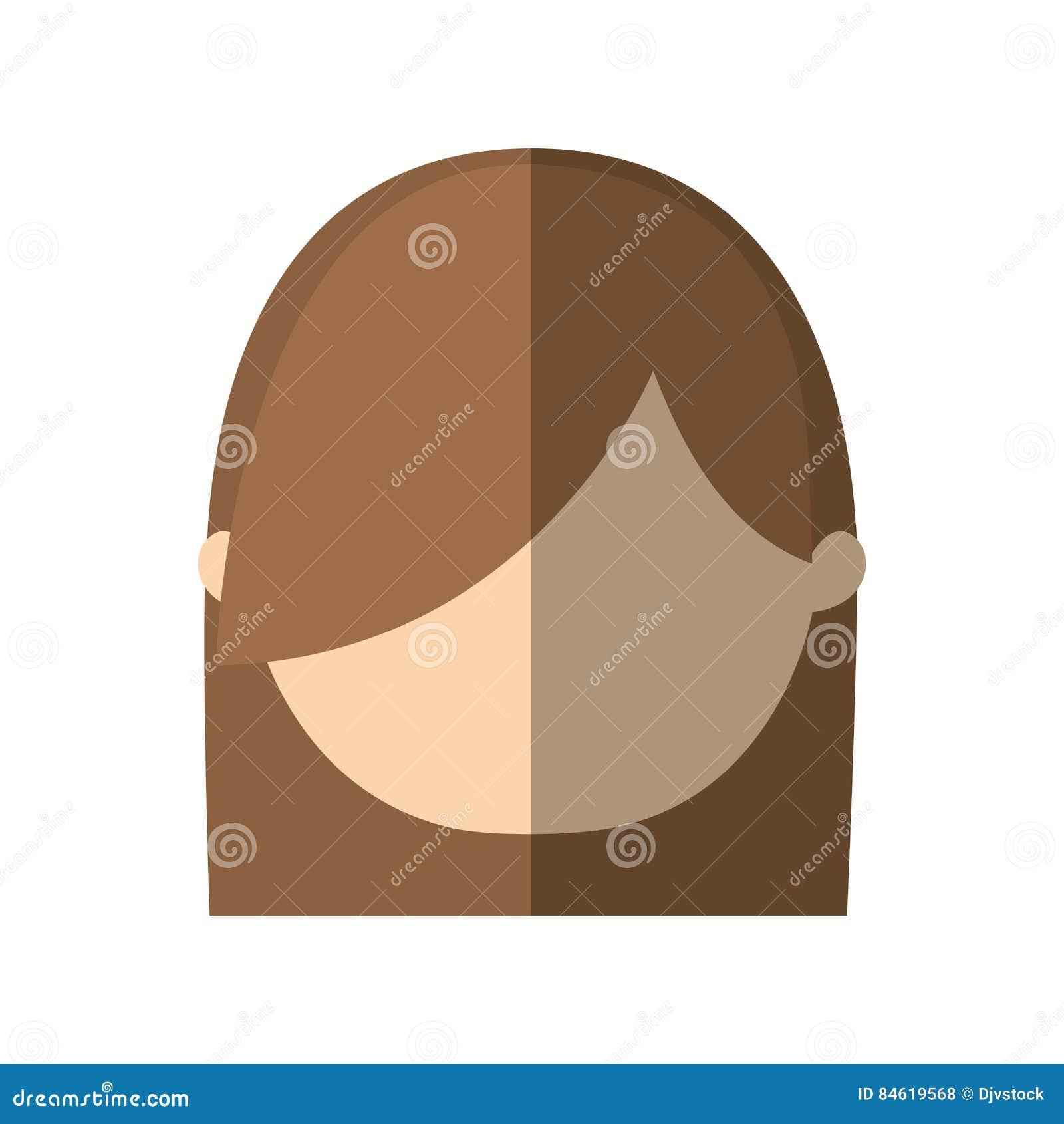 Skugga för frisyr för avatarkvinnaframsida