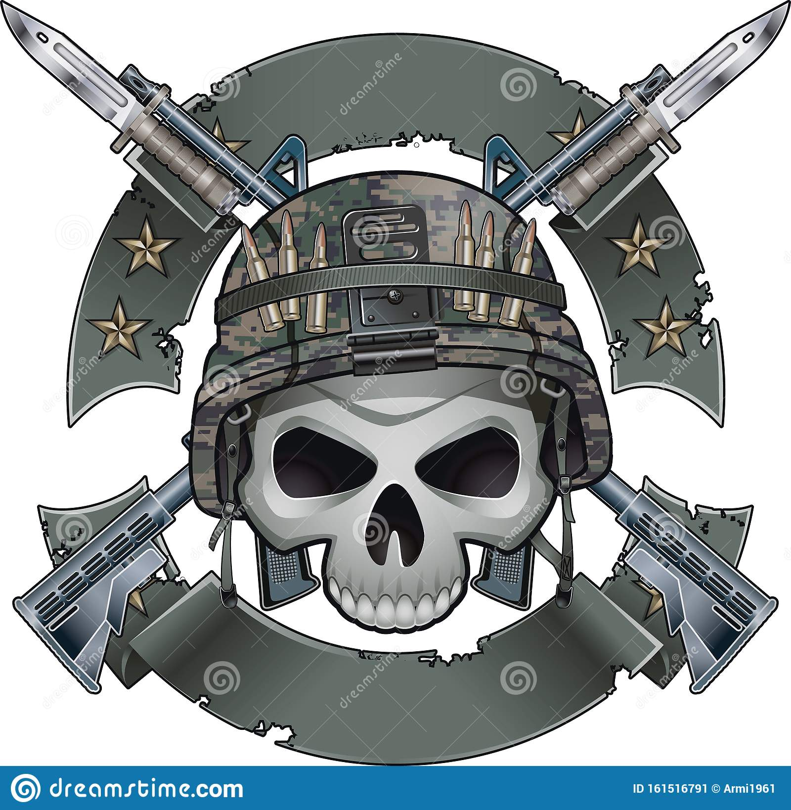 skull army helmet stock illustrations 683 skull army helmet stock illustrations vectors clipart dreamstime https www dreamstime com skull army helmet crossing assault rifles fixed bayonets banners editable scaleable vector illustration image161516791