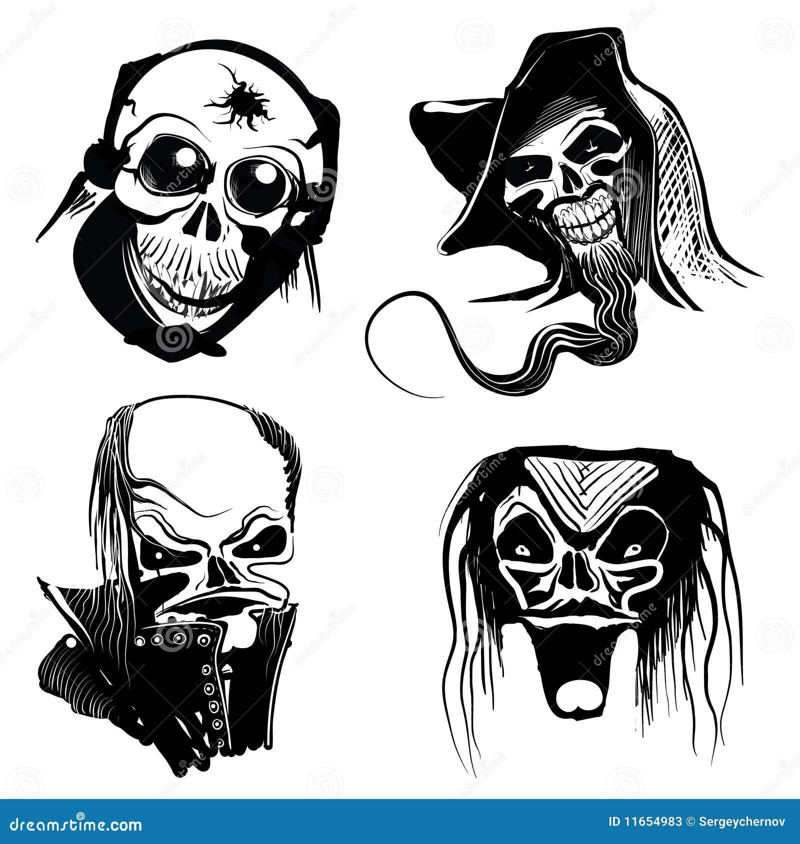 skull art designs stock vector image of icon horror