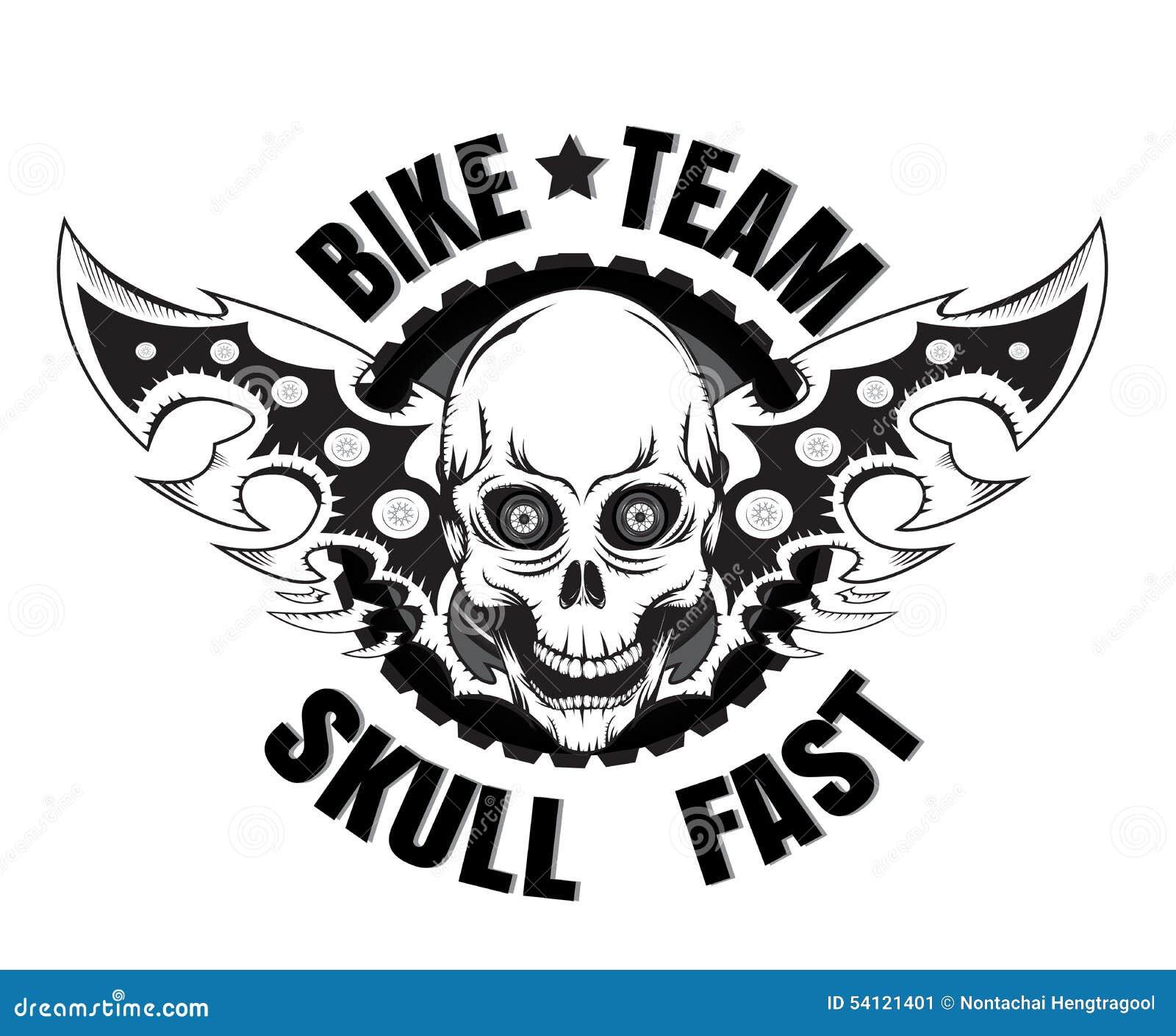skull bike stock vector image 54121401. Black Bedroom Furniture Sets. Home Design Ideas
