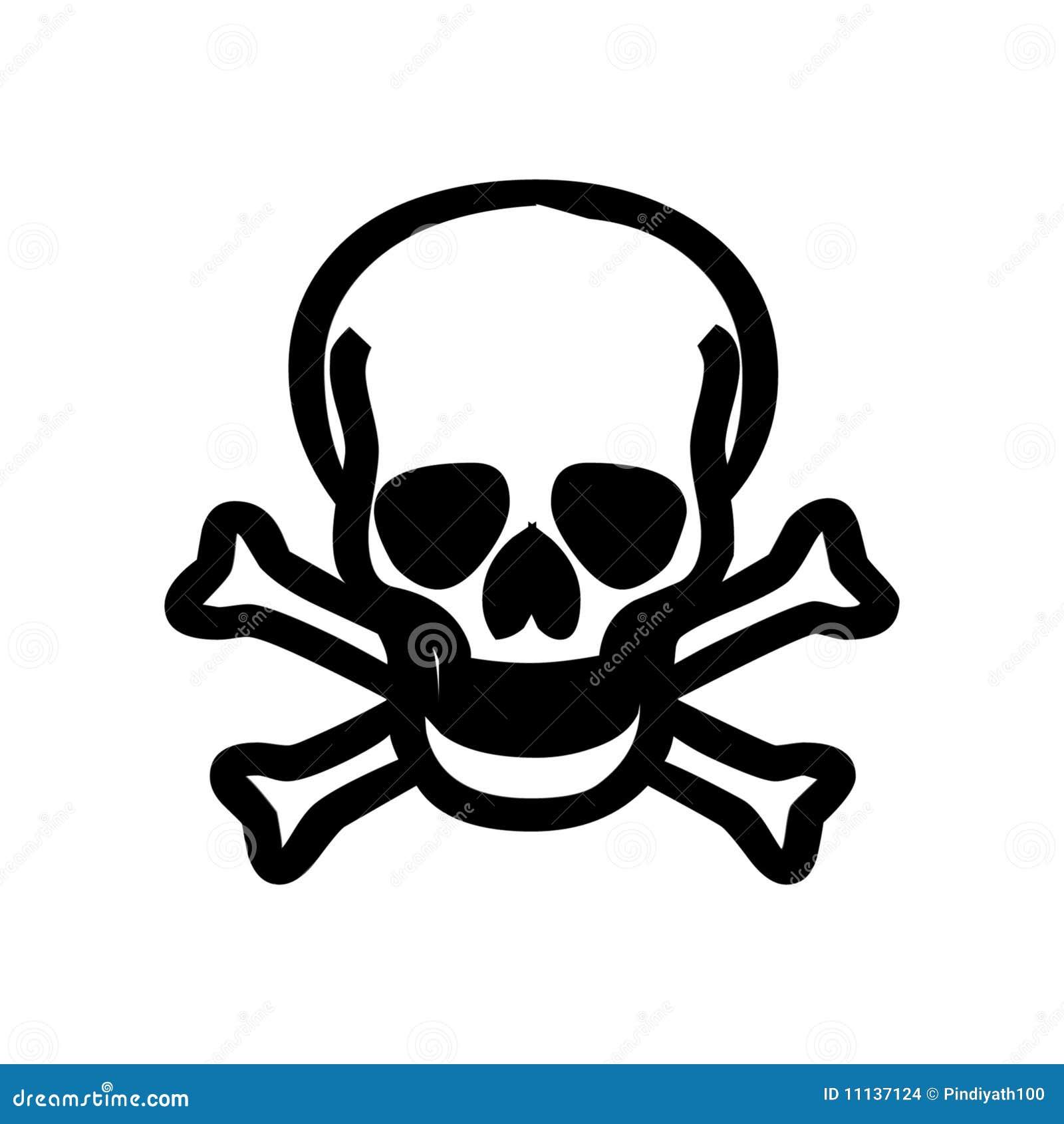 Skull With Bones Stock Illustration Illustration Of Head 11137124
