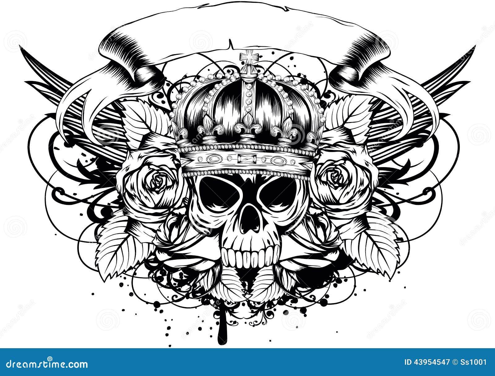 skull corona roses stock vector illustration of dead