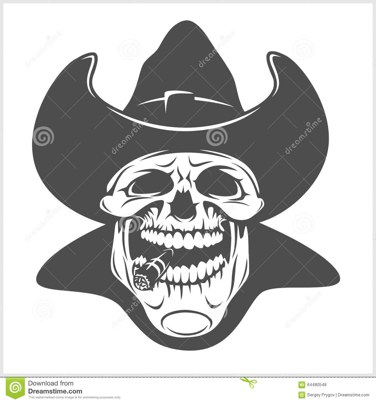 e0ea5f6540a5c Skull In Cowboy Hat - Gangster Stock Vector - Illustration of black ...