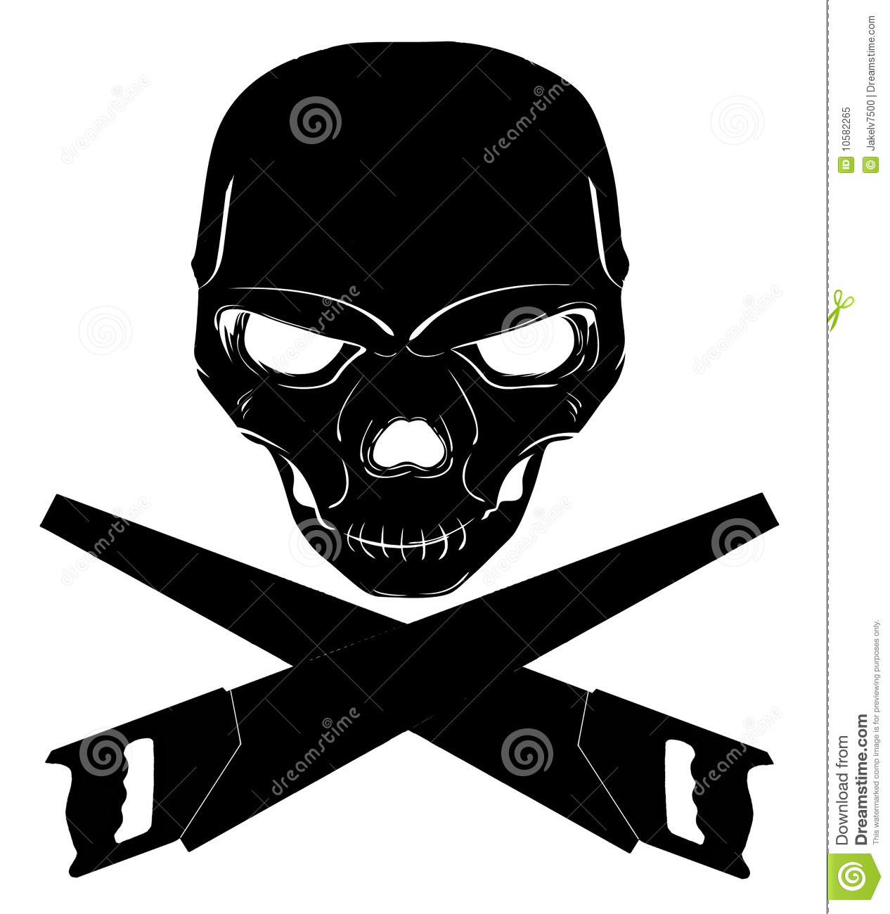 Toxic Symbol Black And White Skull and cross saws s...