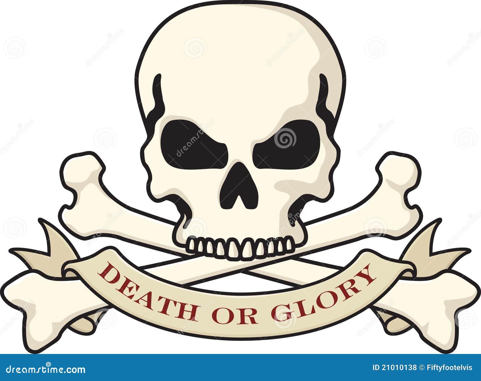 Skull And Crossbones Stock Vector Illustration Of Glory 21010138