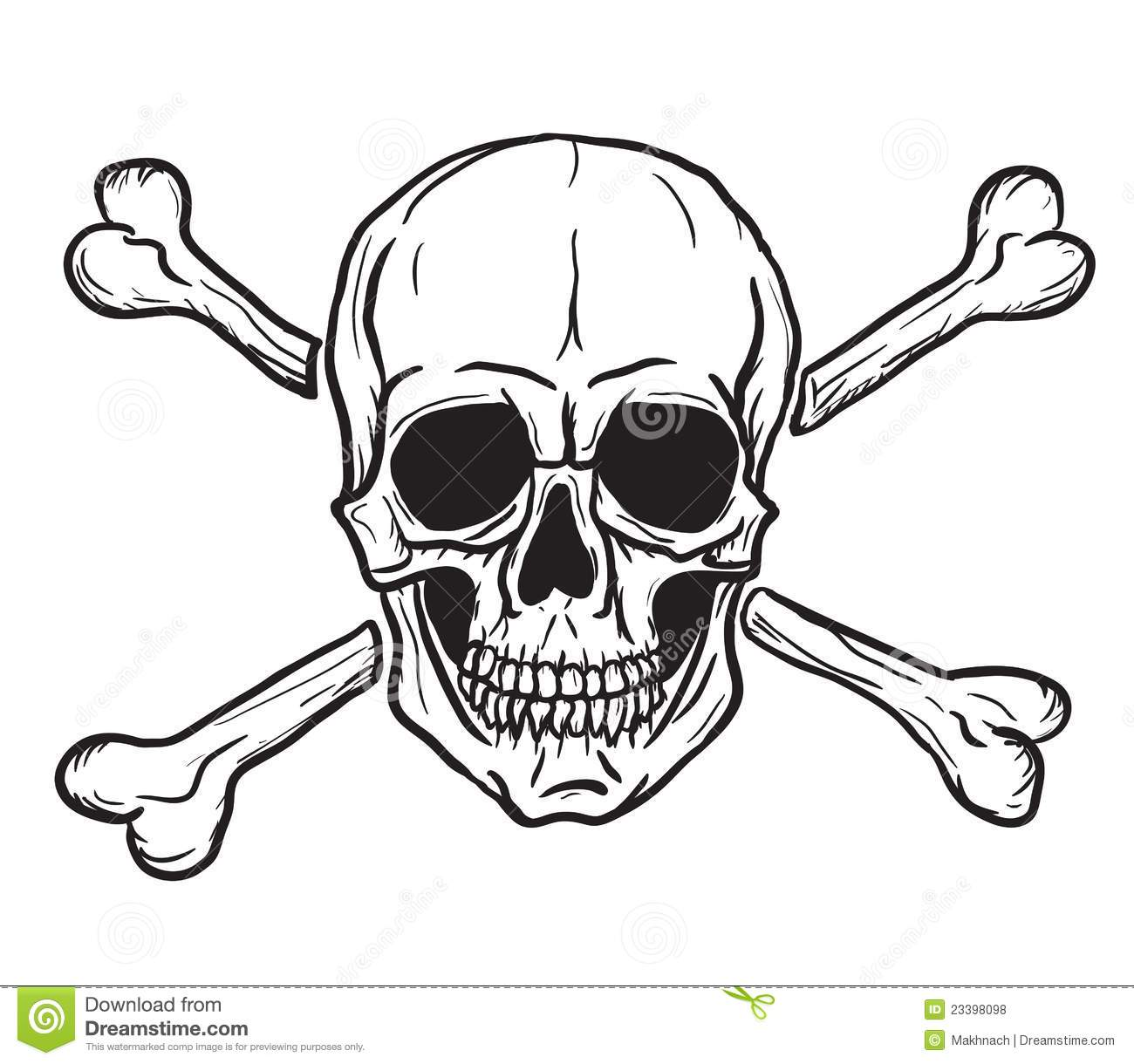 Evil Skull And Crossbones Skull and crossbones isolated