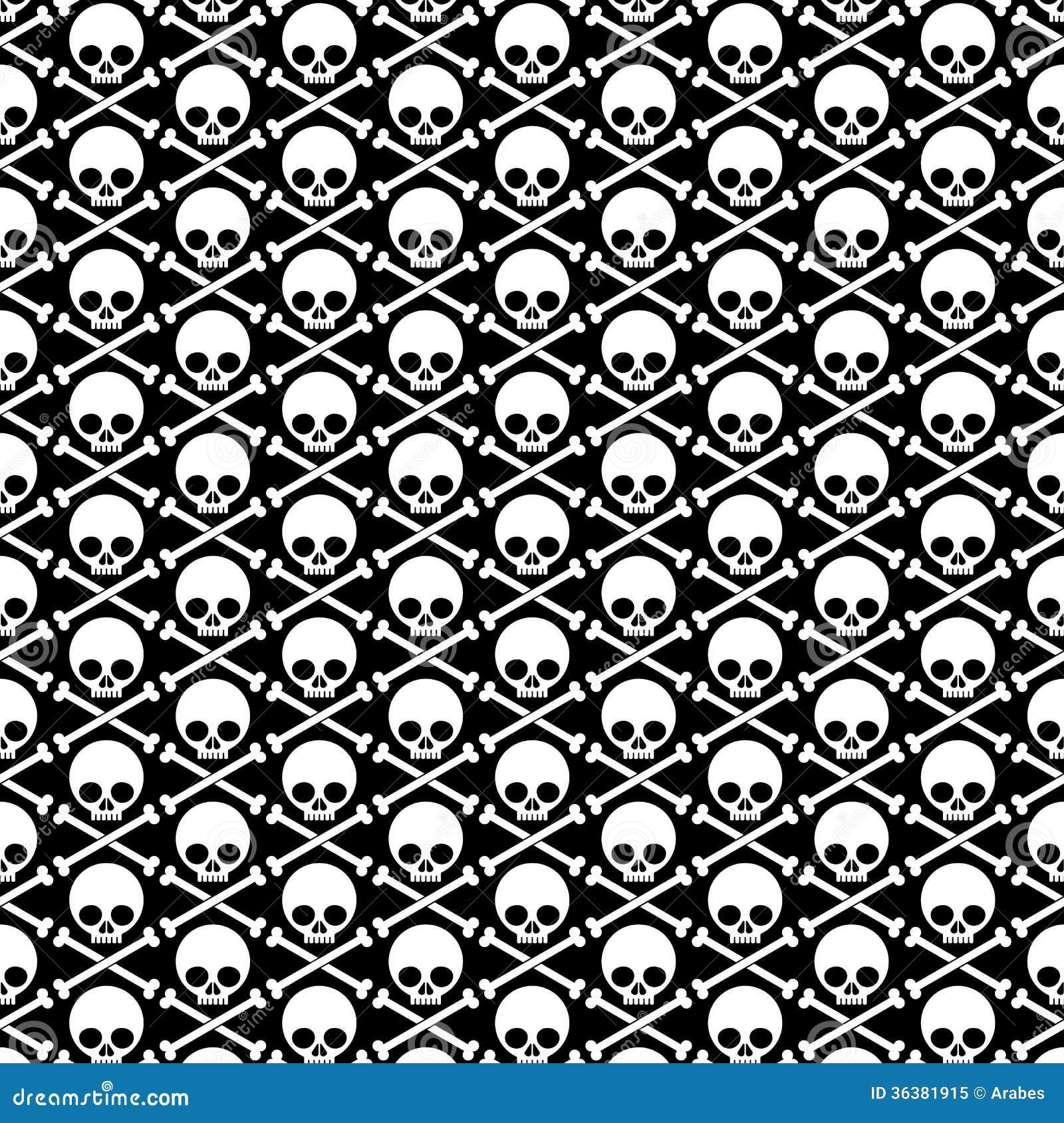 Skull And Crossbones Background Stock Vector Illustration Of Sign