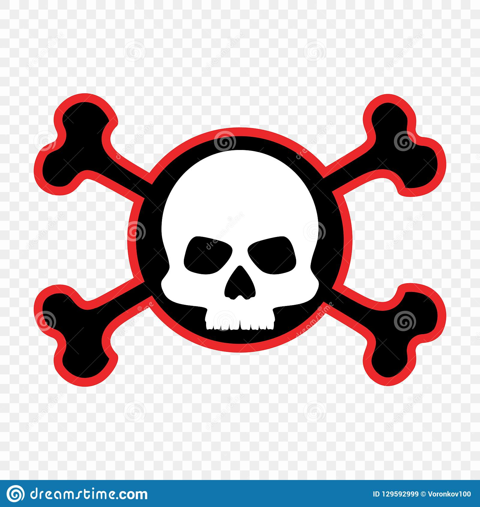Skull And Crossbones Icon The Concept Of Warning Of Mortal Danger