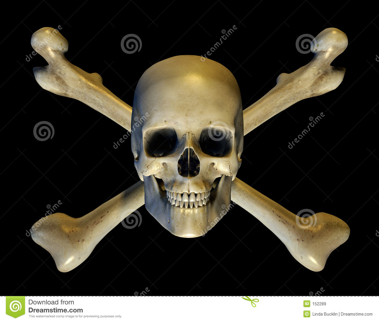 Skull and Crossbones - includes clipping path