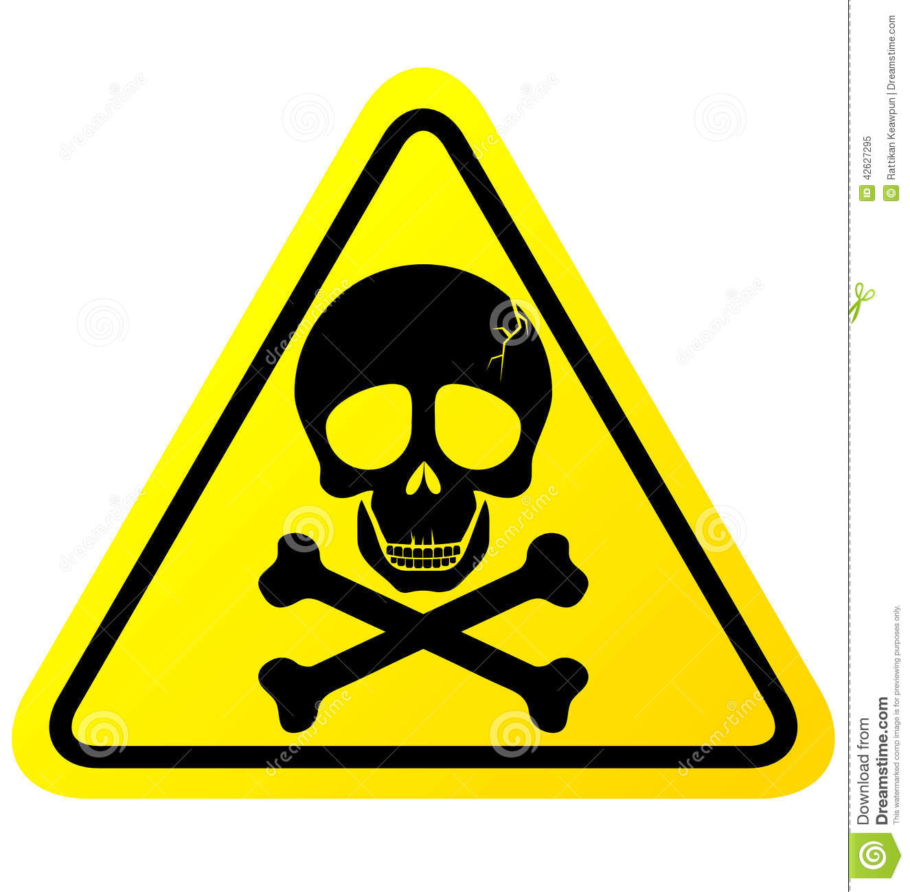 Skull Danger Sign Stock Vector - Image: 42627295