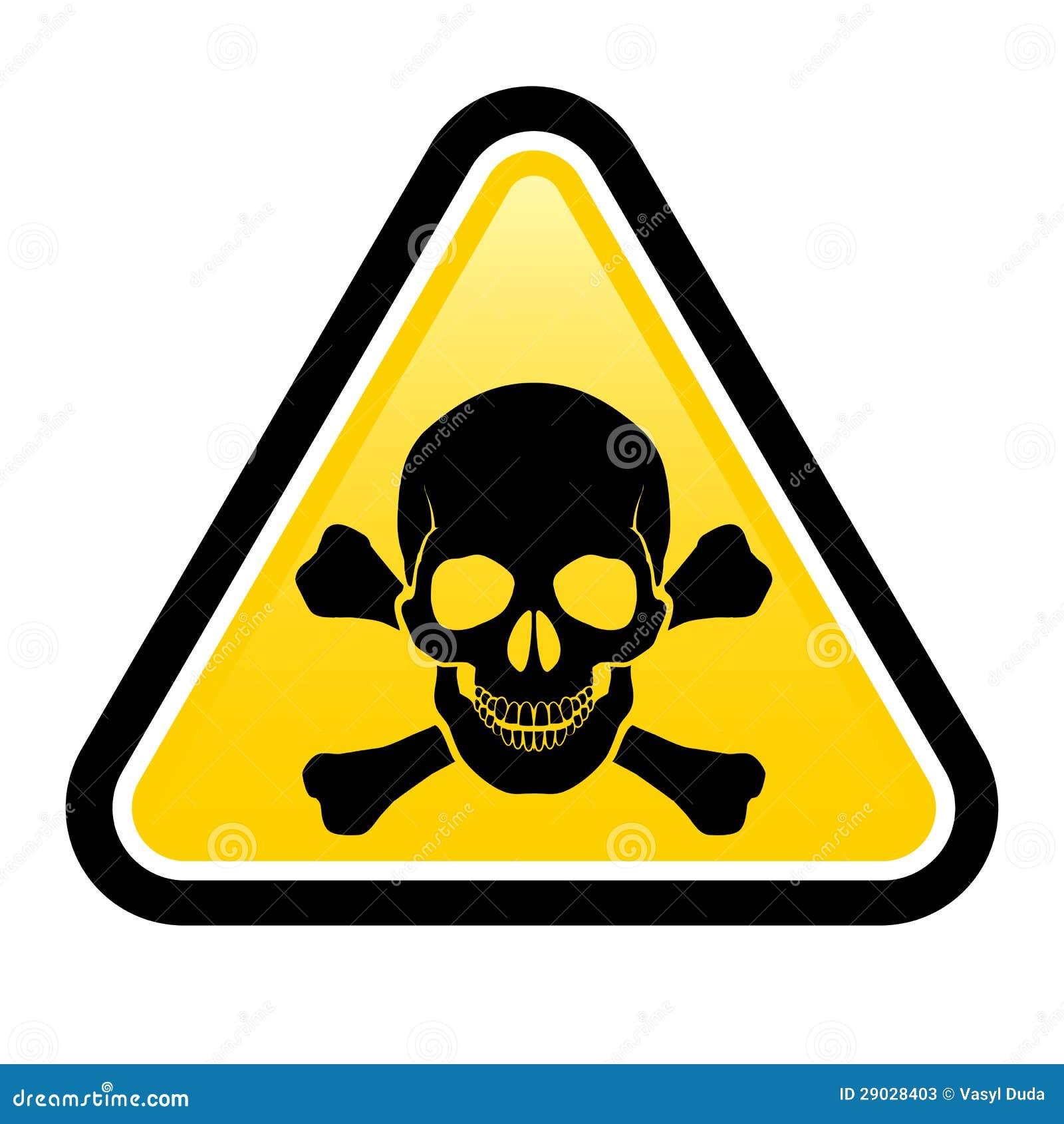 skull danger signs stock vector illustration of current