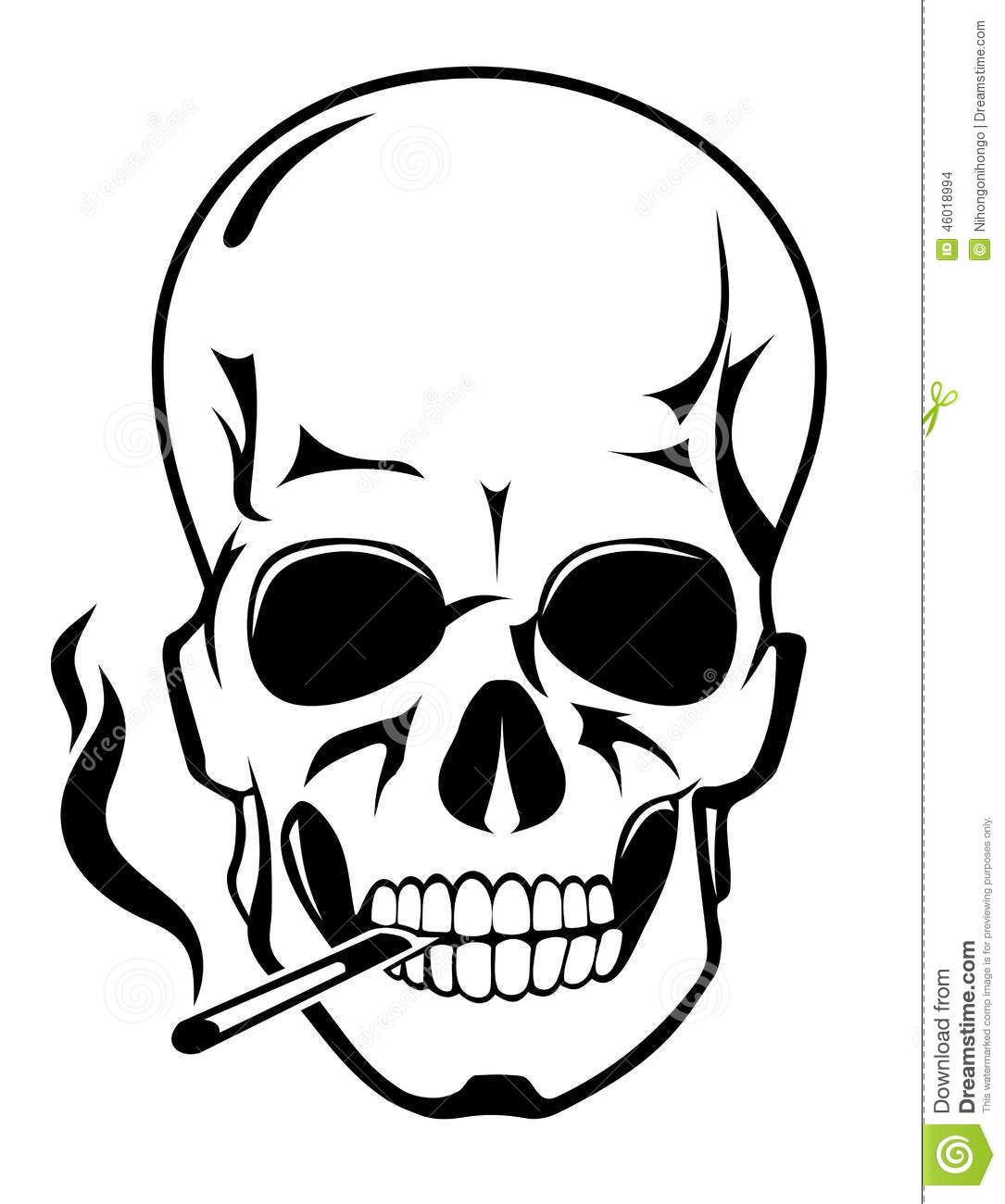 Stock Illustration Skull Danger Smoke Concept Cartoon Style Image46018994 on halloween clip art