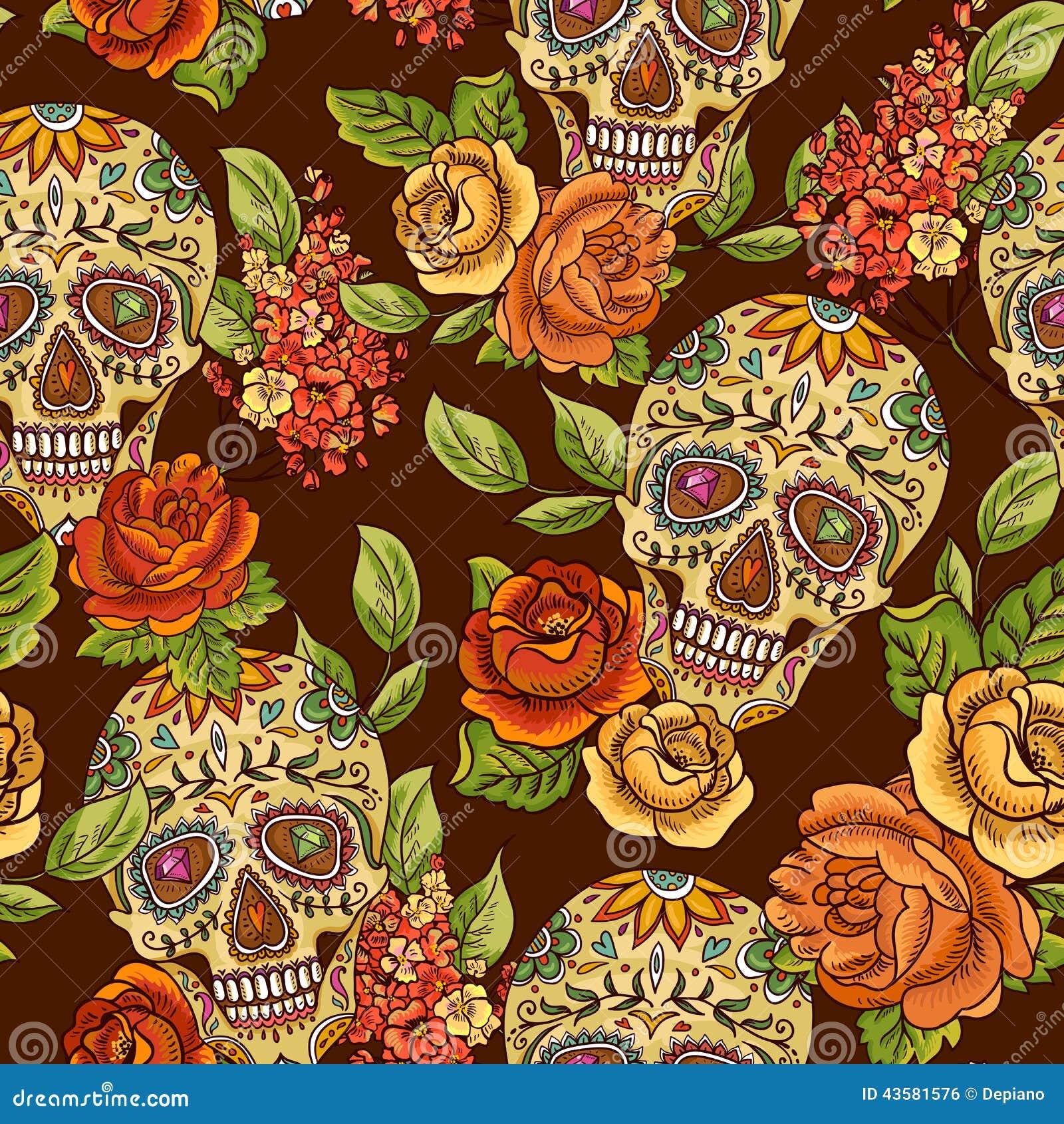 Floral Skull Backgrounds Tumblr Download