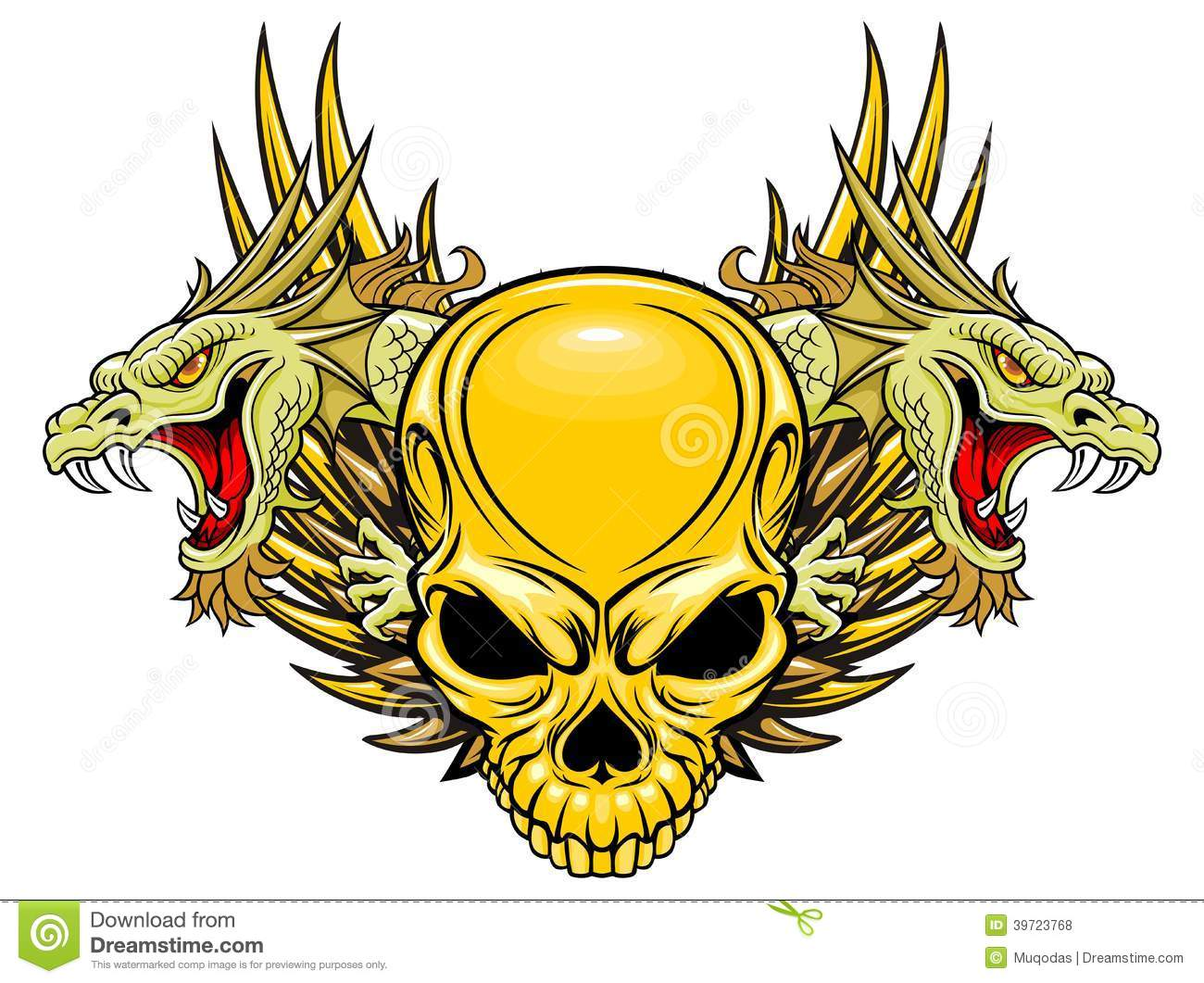 Skull and dragons
