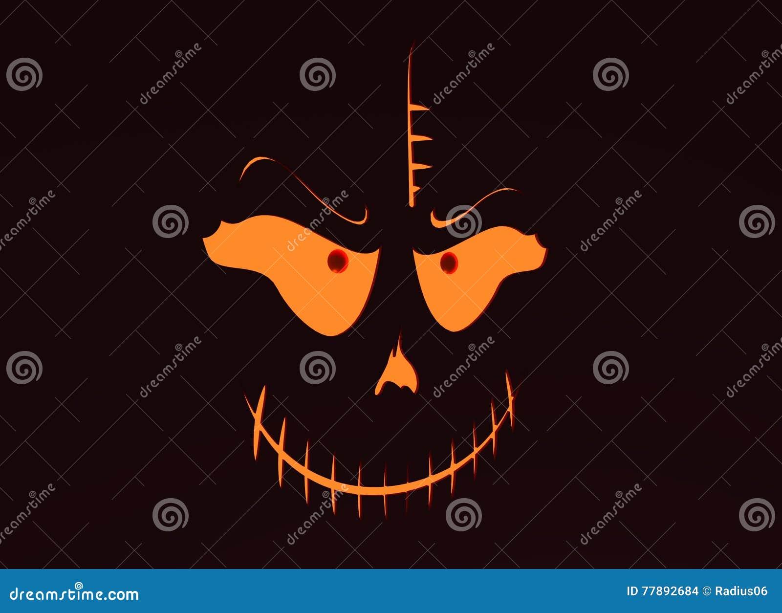 Skull with Evil Laugh stock illustration  Illustration of
