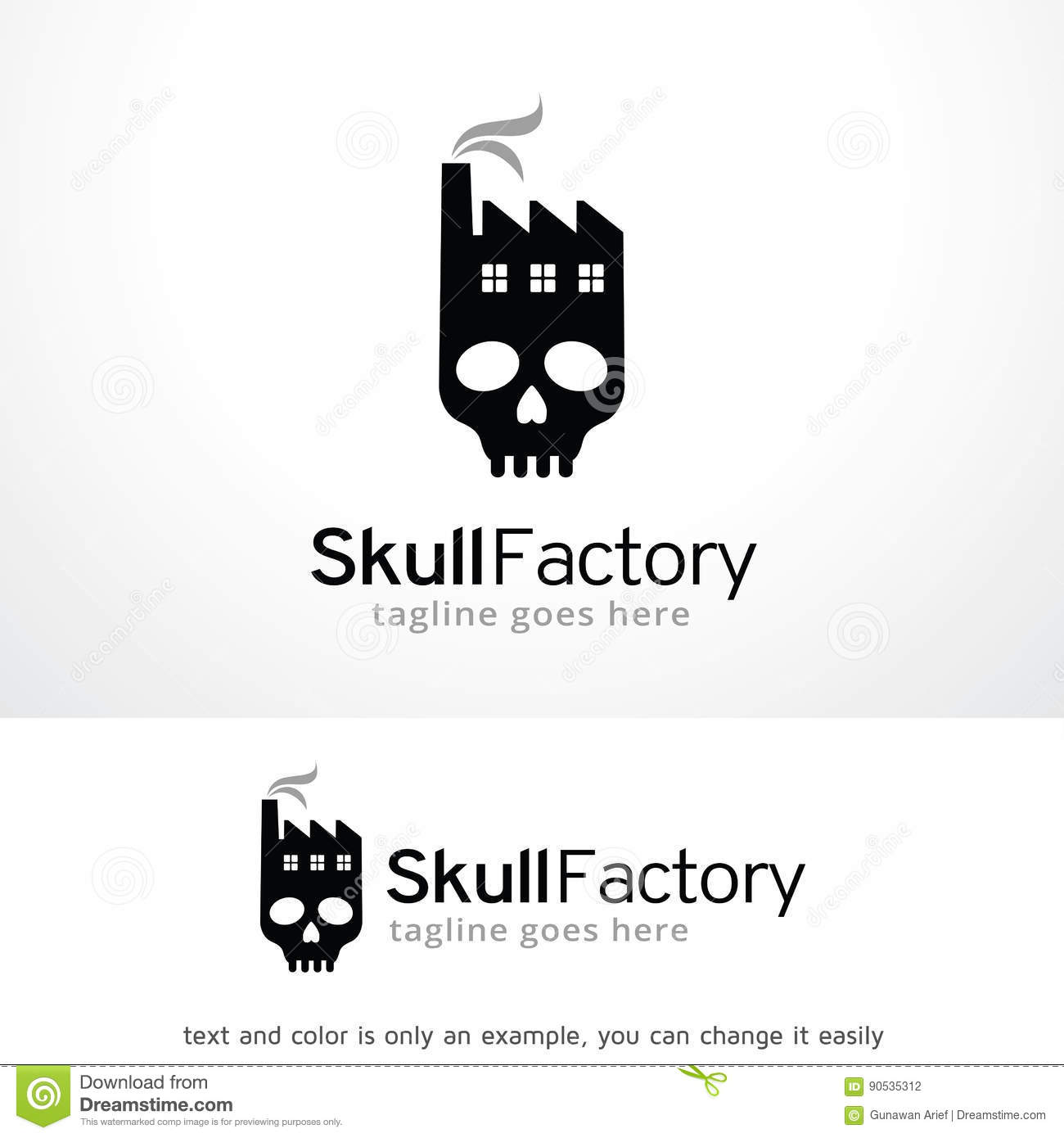 Skull factory logo template design vector emblem design concept skull factory logo template design vector emblem design concept creative symbol icon buycottarizona Images