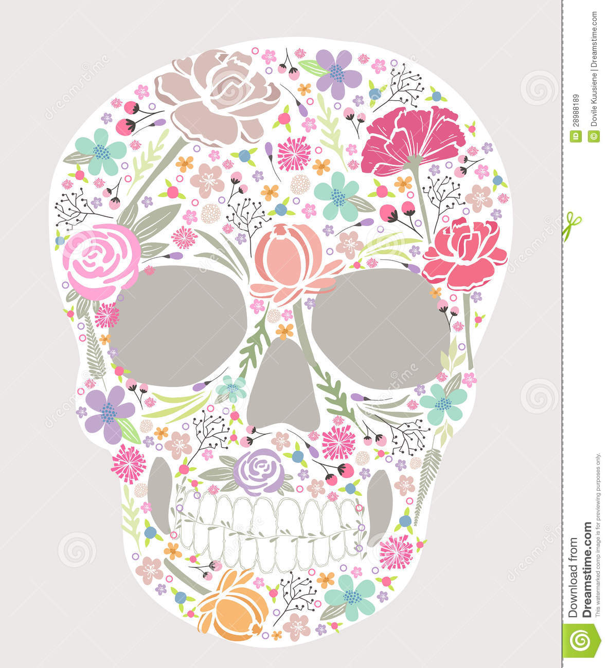Skull From Flowers Royalty Free Stock Image
