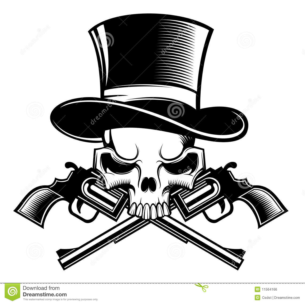 Drawings Easy Skull With Guns: Fashon Cartoons, Illustrations & Vector Stock Images