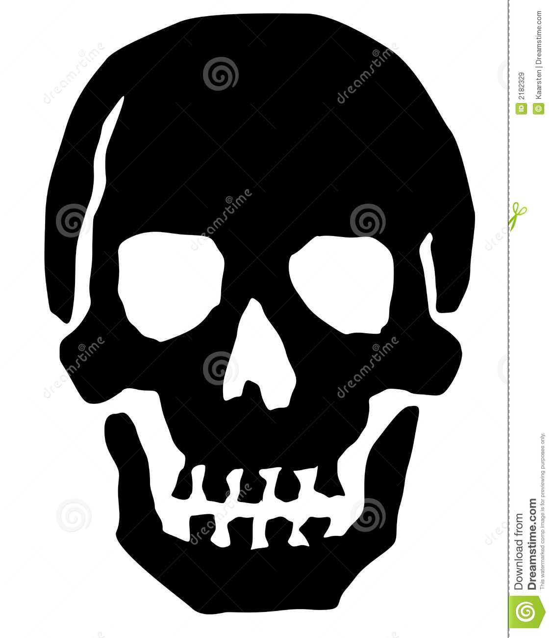 It's just a picture of Gratifying Skull Drawing Black And White