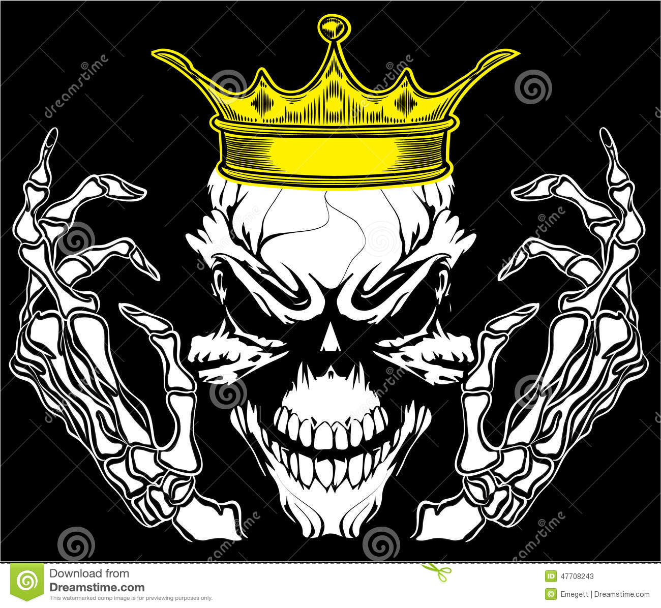 Skull and crossbones / a mark of the danger warning / T-shirt graphics ...