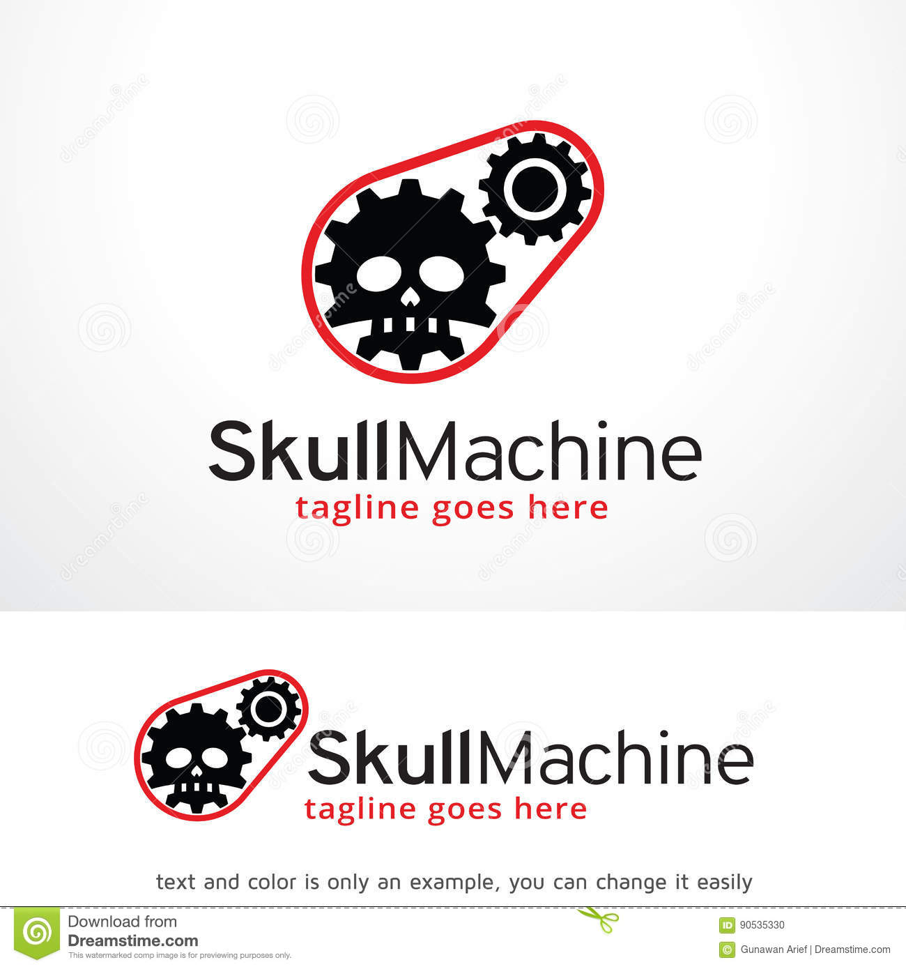Skull machine logo template design vector emblem design concept skull machine logo template design vector emblem design concept creative symbol icon buycottarizona Images