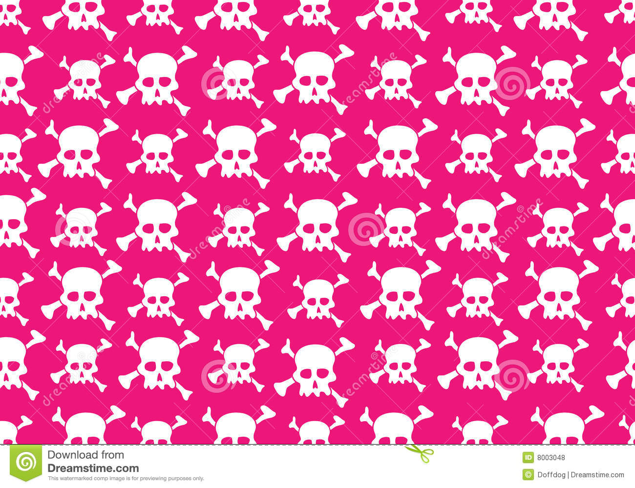Girly Background Royalty Free Stock Photo: Skull Pattern Stock Vector. Image Of Modern, Bone, Image