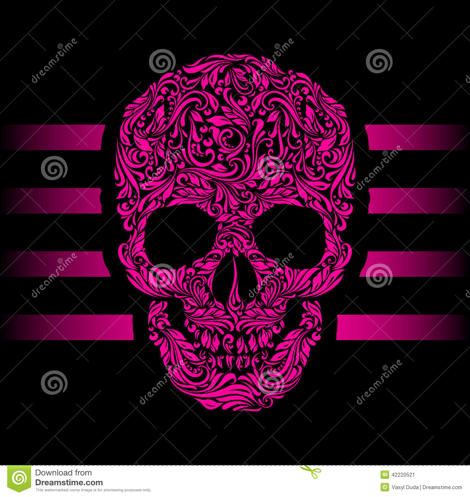 Skull Pattern Stock Photo Image 42220521