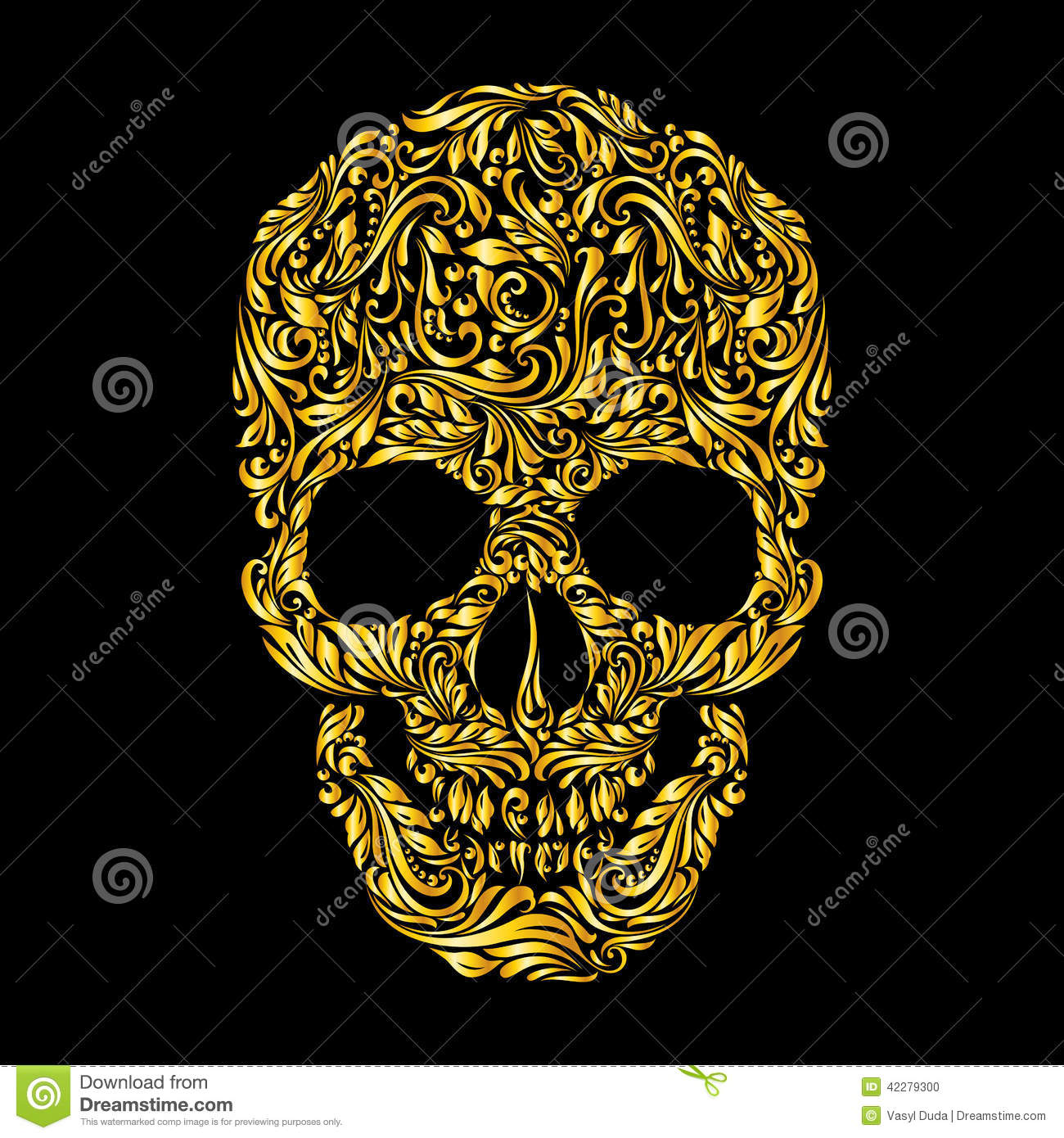 skull pattern stock vector image 42279300. Black Bedroom Furniture Sets. Home Design Ideas