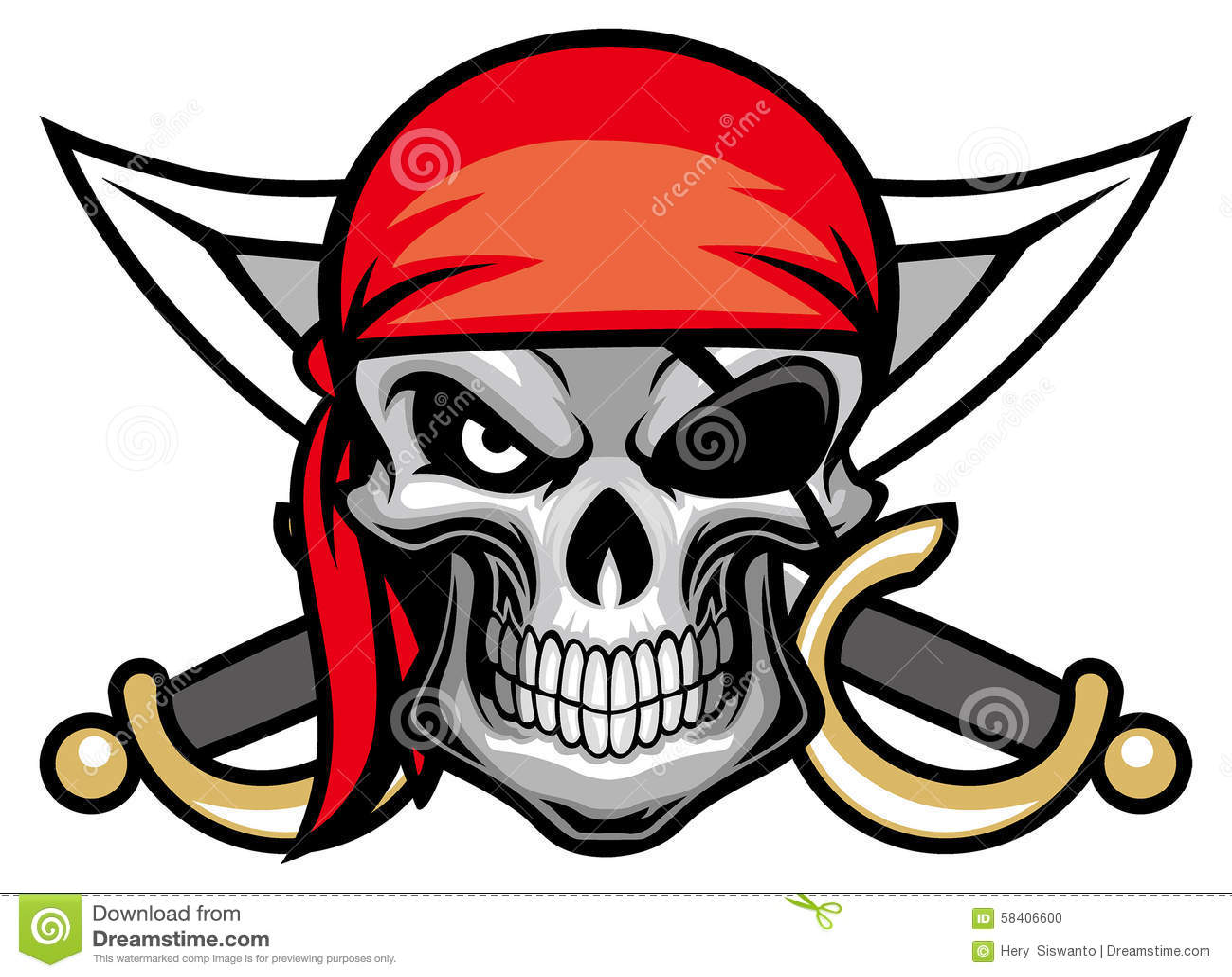Skull Pirate Head Stock Vector Illustration Of High