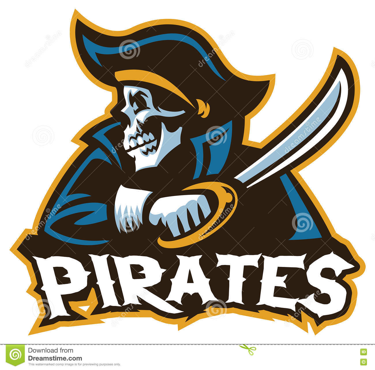 Skull Pirate With The Sword