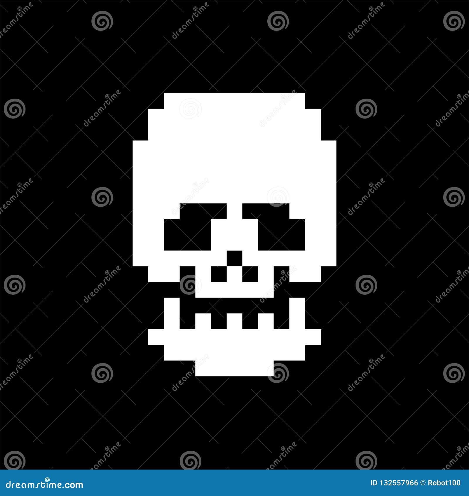 Skull Pixel Art  Bones Anatomy 8 Bit  Pixelate Human Skeleton System